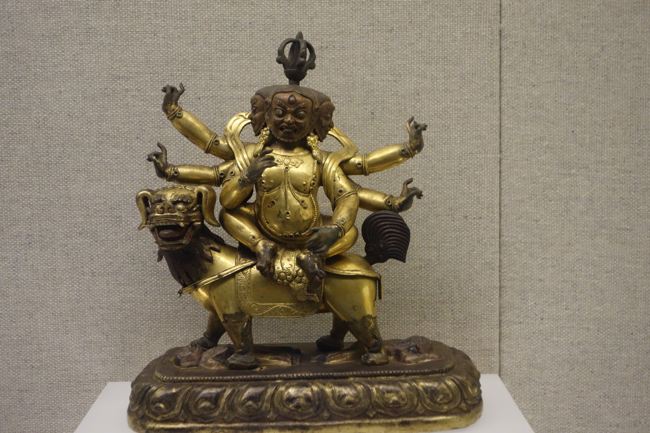 Gilt Copper Figurine of a Wrathful Manjusri