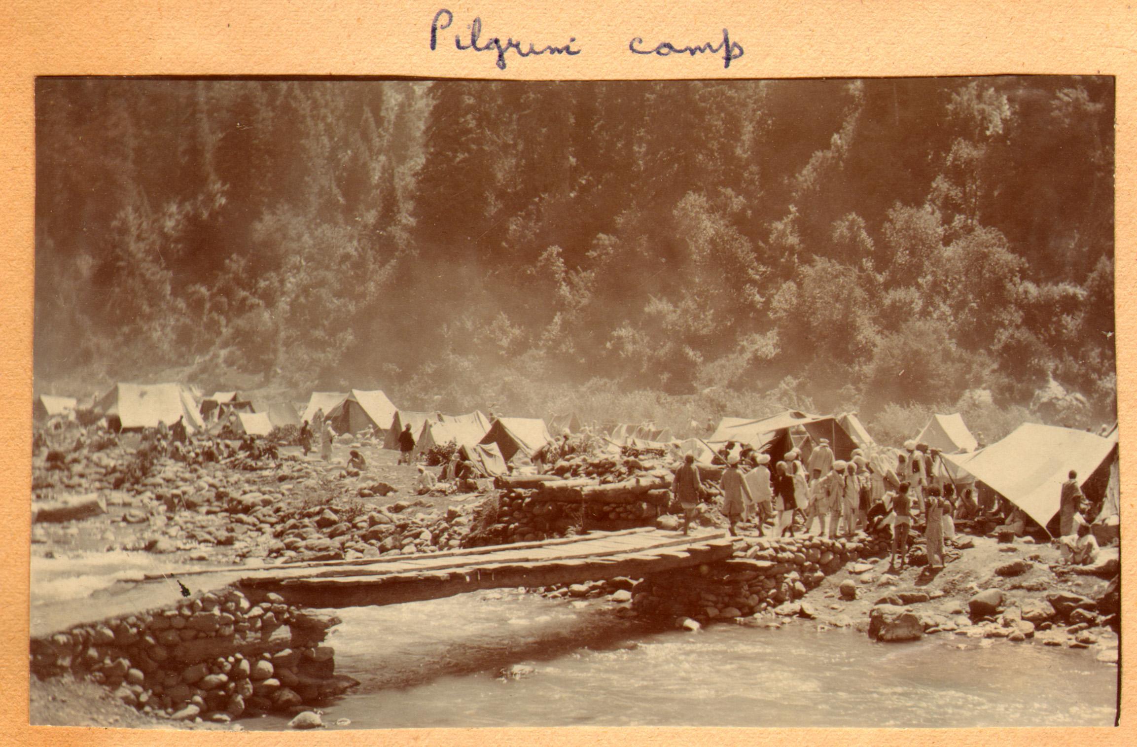 160 1920 Pilgrim Camp, Pahlgam, Kashmir by Ralph Stewart