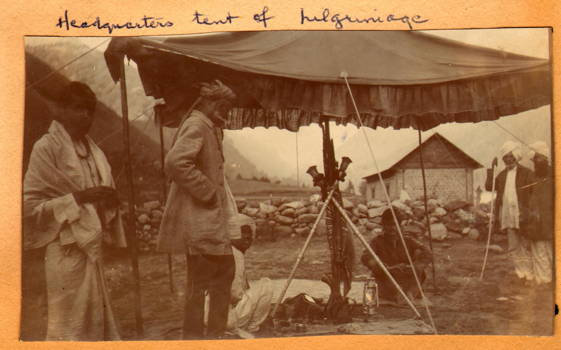 166 1920 Headquarters tent of Amarnath pilgrimage, Pahlgam, Kashmir by Ralph Stewart