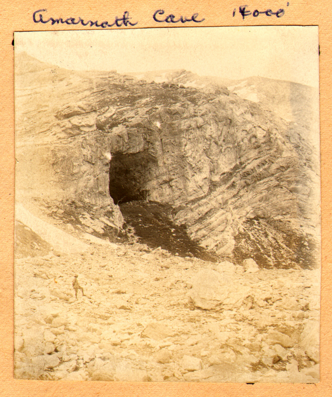 The Amarnath Cave Entrance in 1920