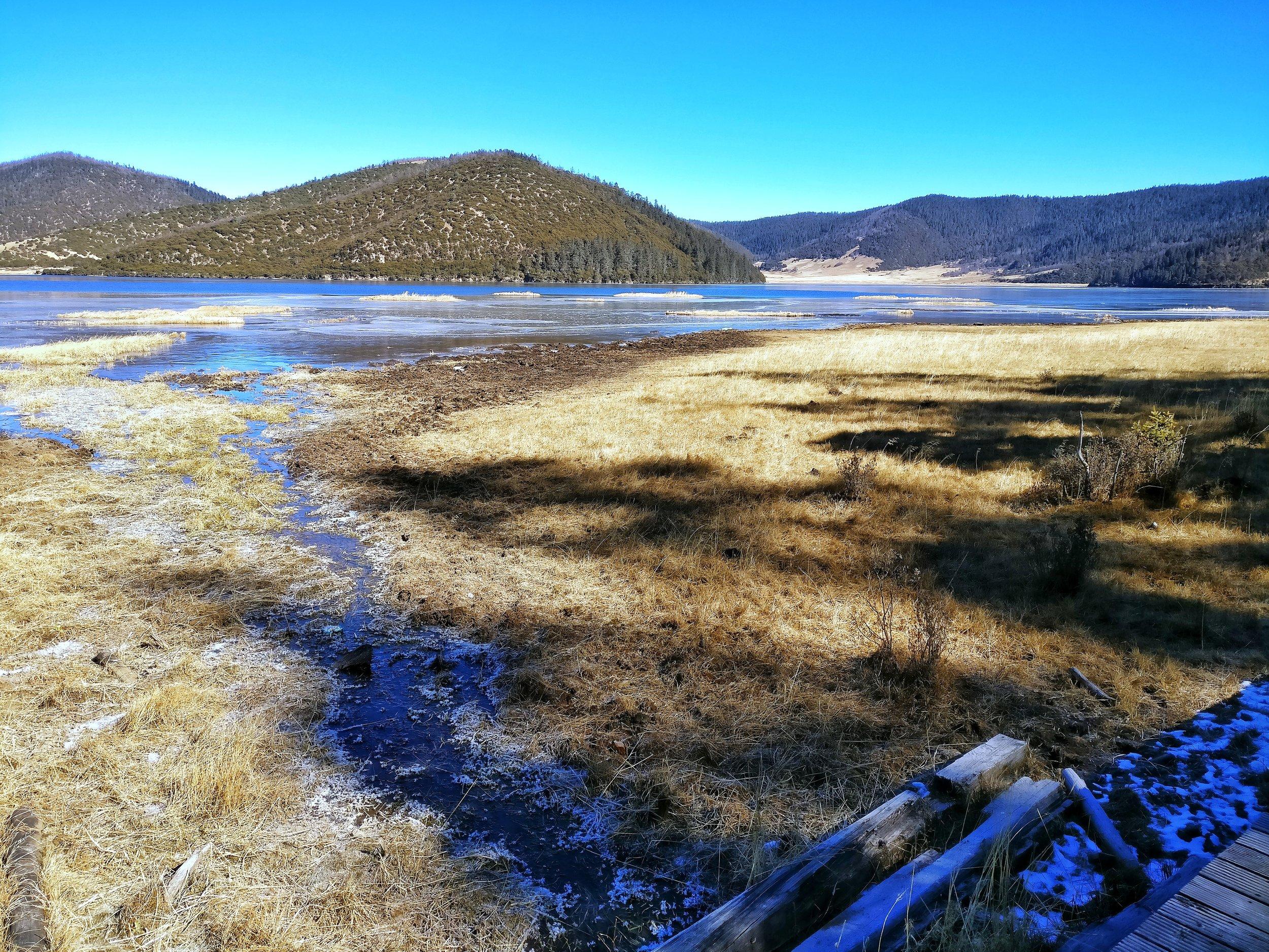 The Shudu Lake at the Potatso National Park in Yunnan.