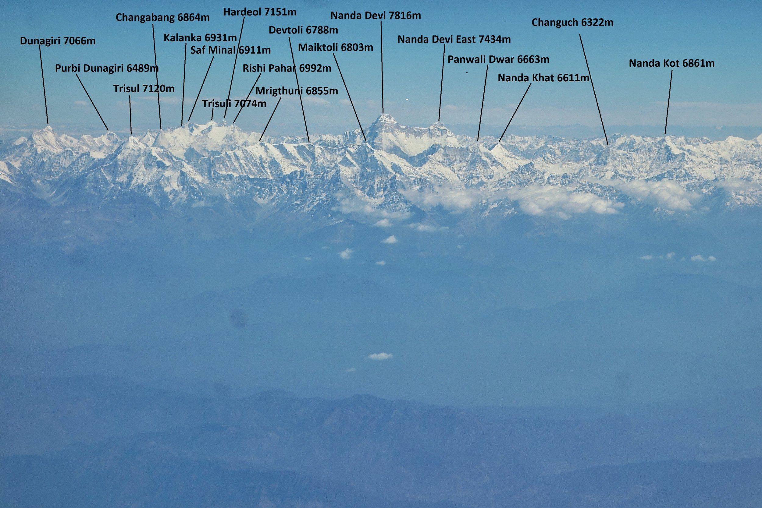 Other Peaks surrounding the Nanda Devi