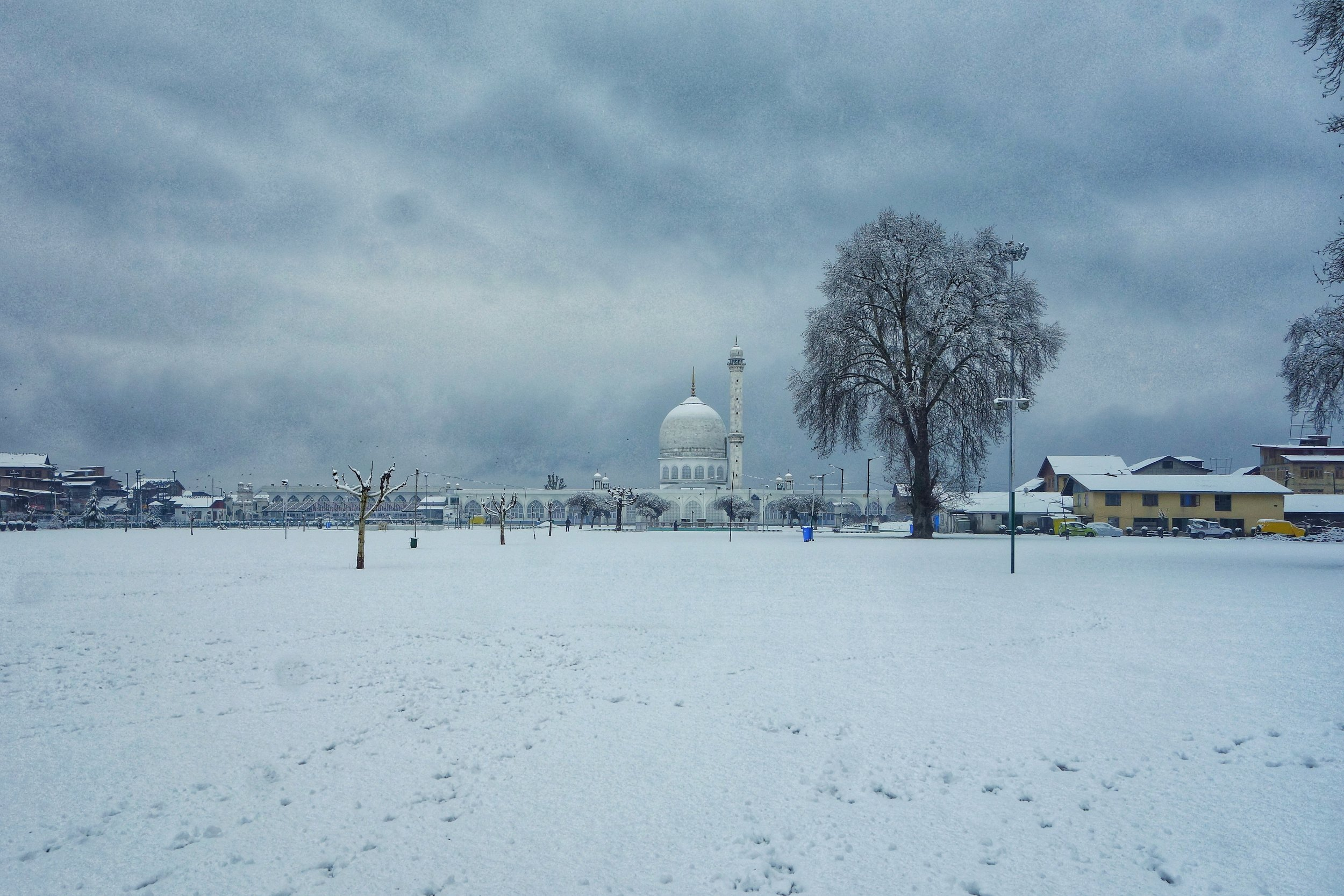 The Hazratbal Shrine after a Snowfall