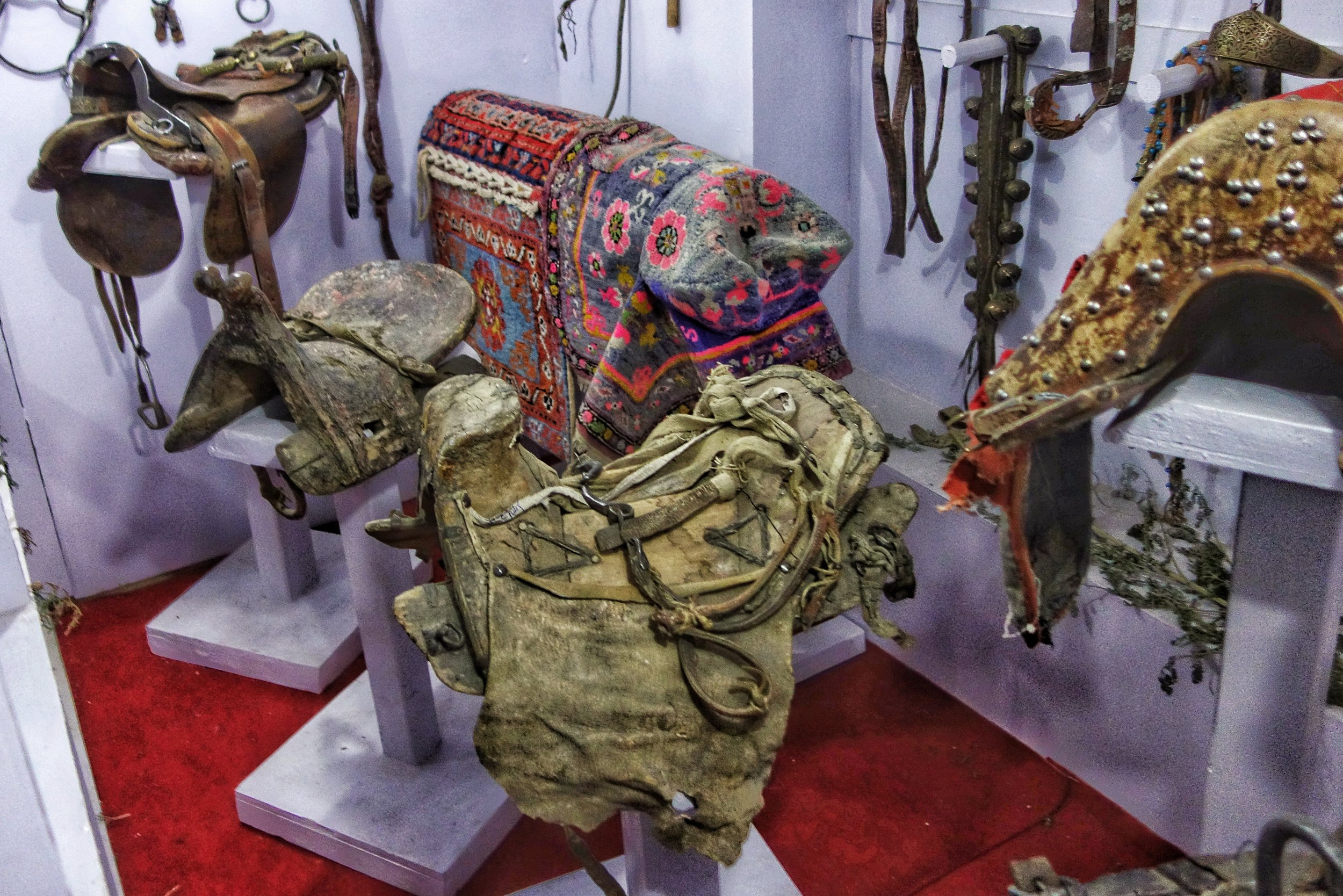 Saddles from Central Asia.