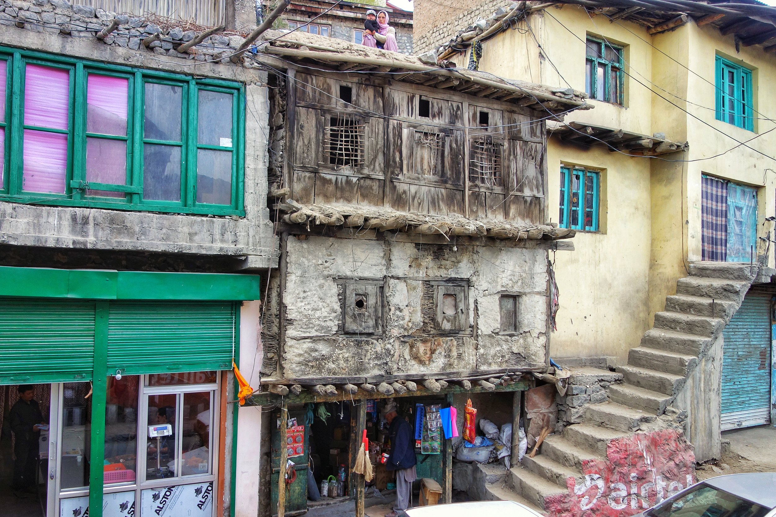 An old style Building in the Kargil Bazar