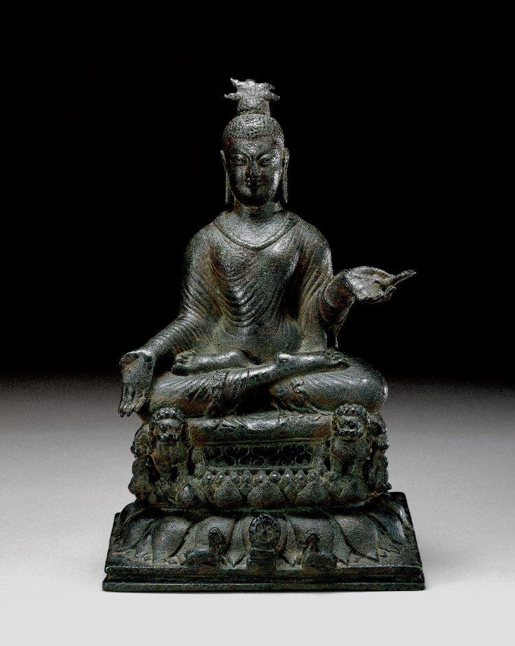 Figure (Buddha). Made of bronze.  9th C -10th C