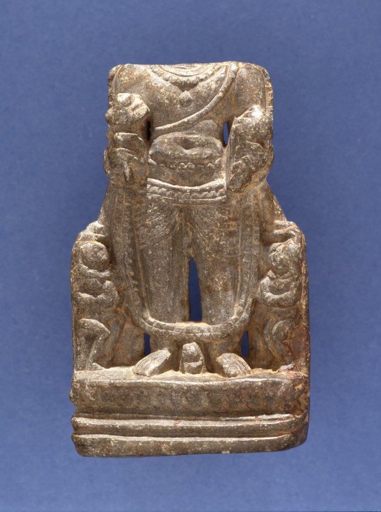 Figure (Viṣṇu.part of). Made of stone (steatite).  8th C