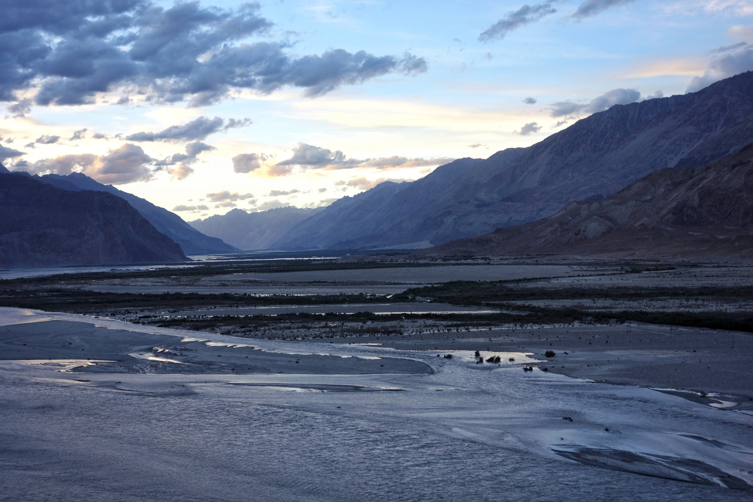 The vast flood plain where the Shyok meets the Nubra
