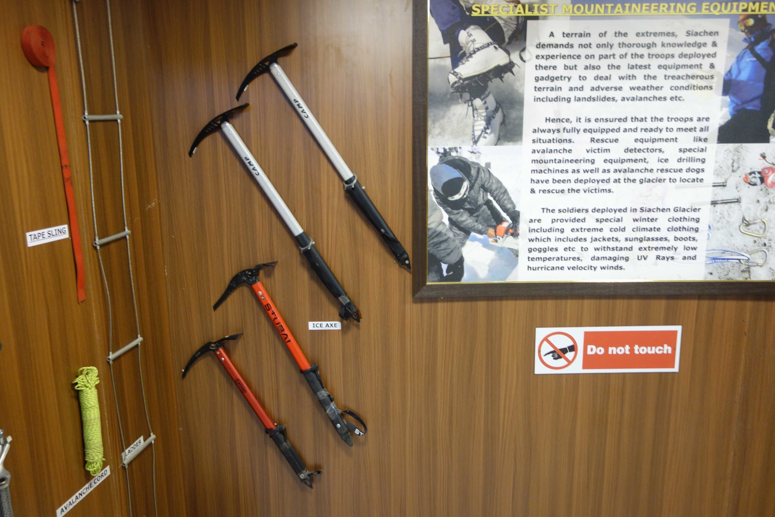 Different Mountaineering Gear I