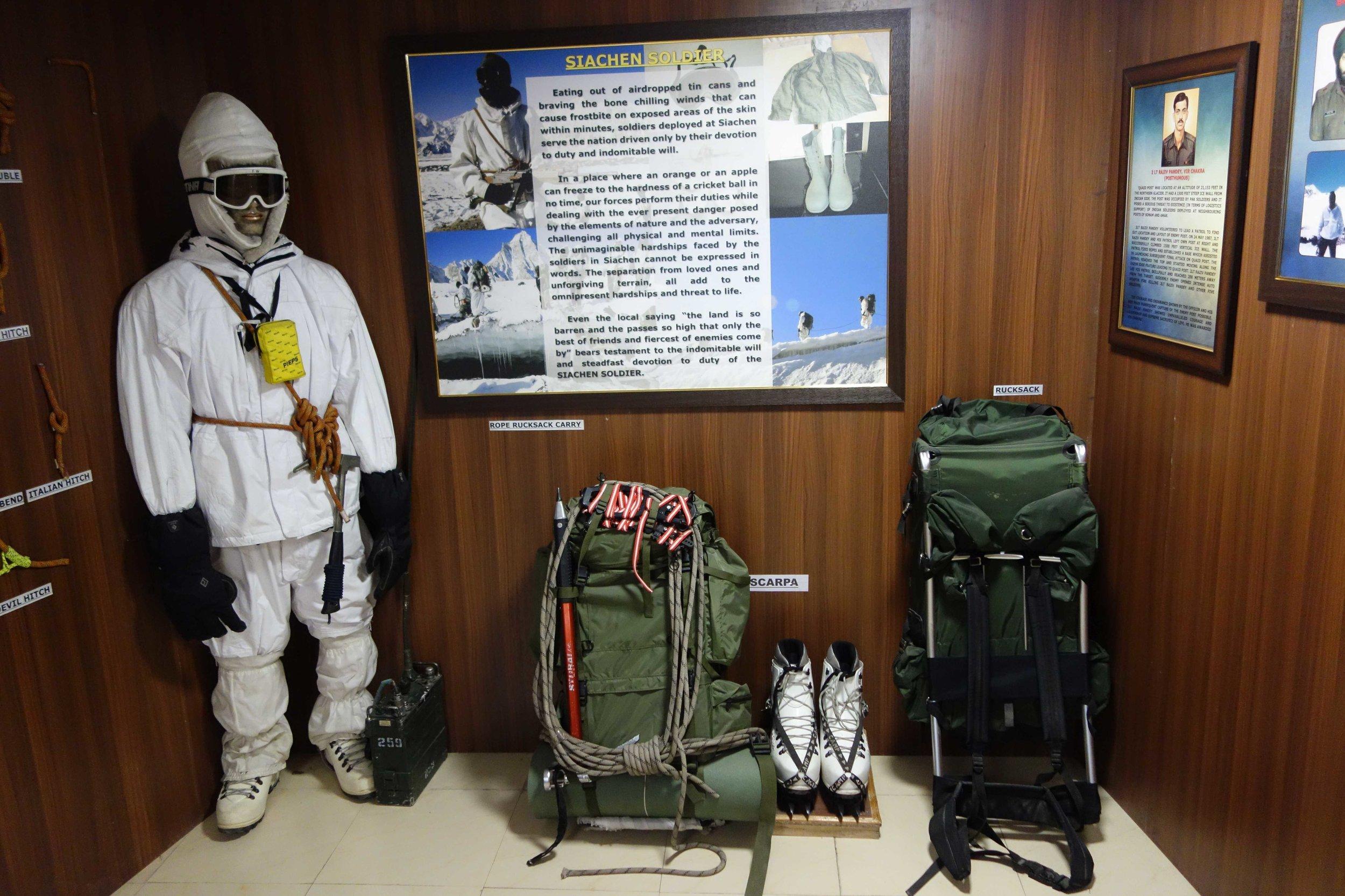 A Siachen Soldier's full Gear
