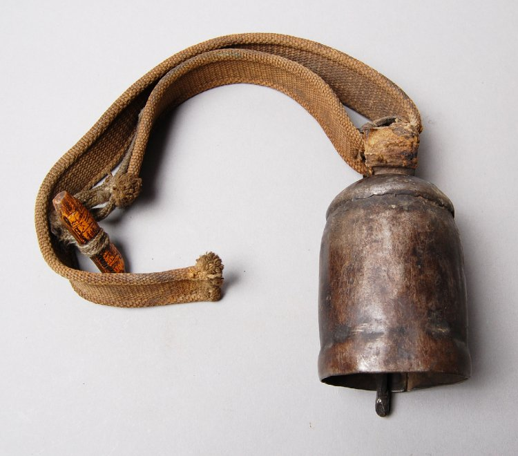 Bell (for horse) made of metal, wood.-ladakh