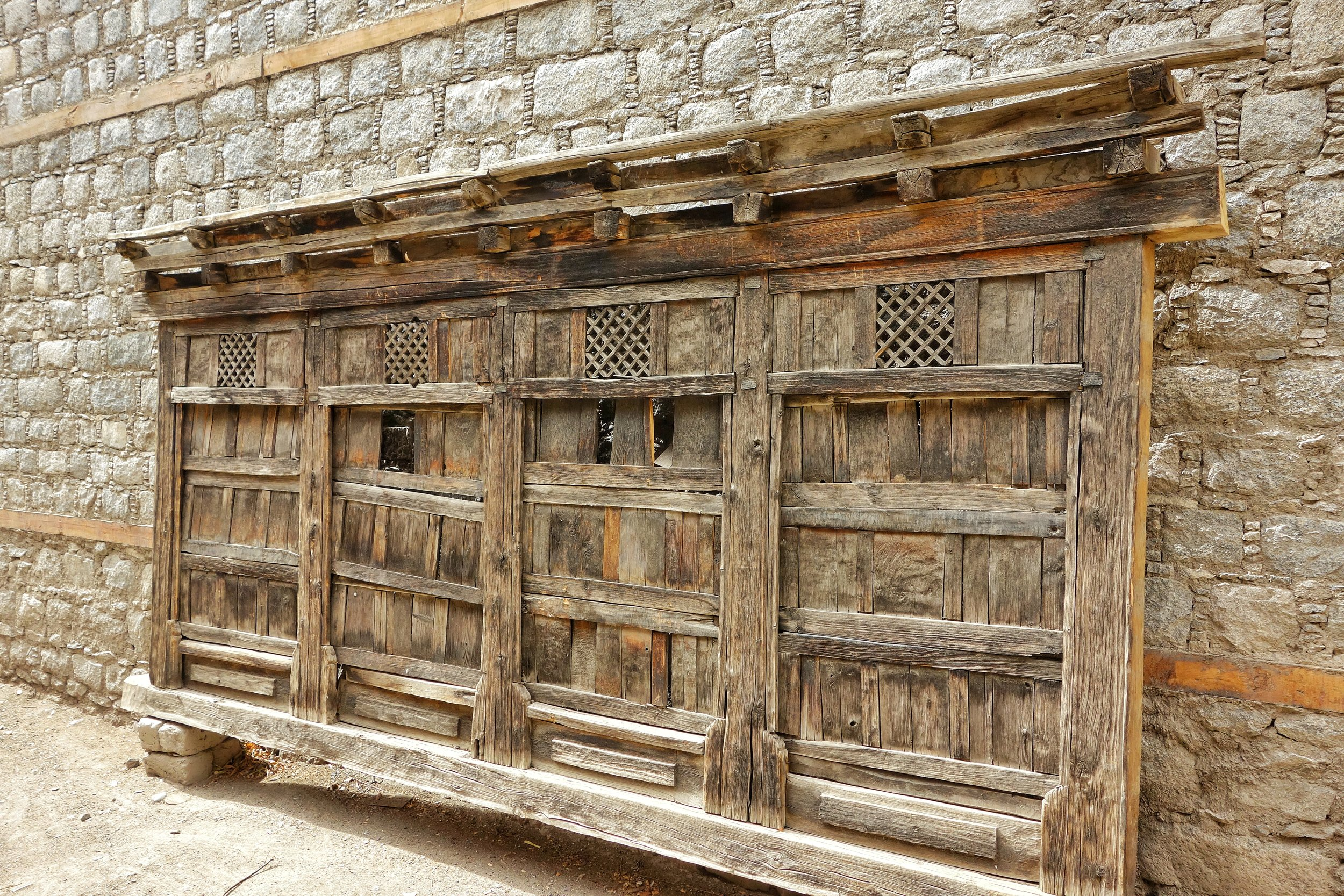 An old Window frame from Ladakh