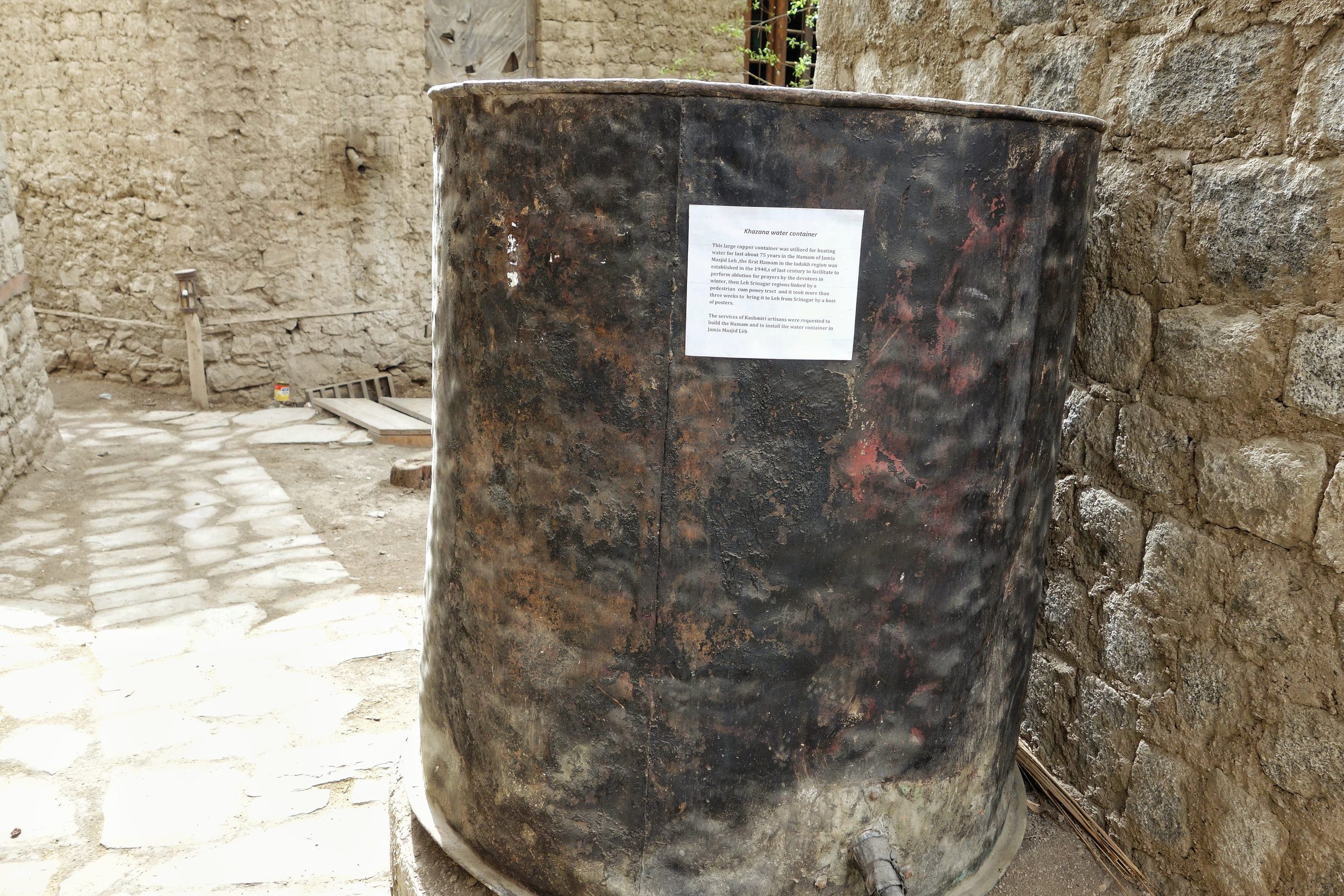A Drum which used to hold Water for the Hammam.