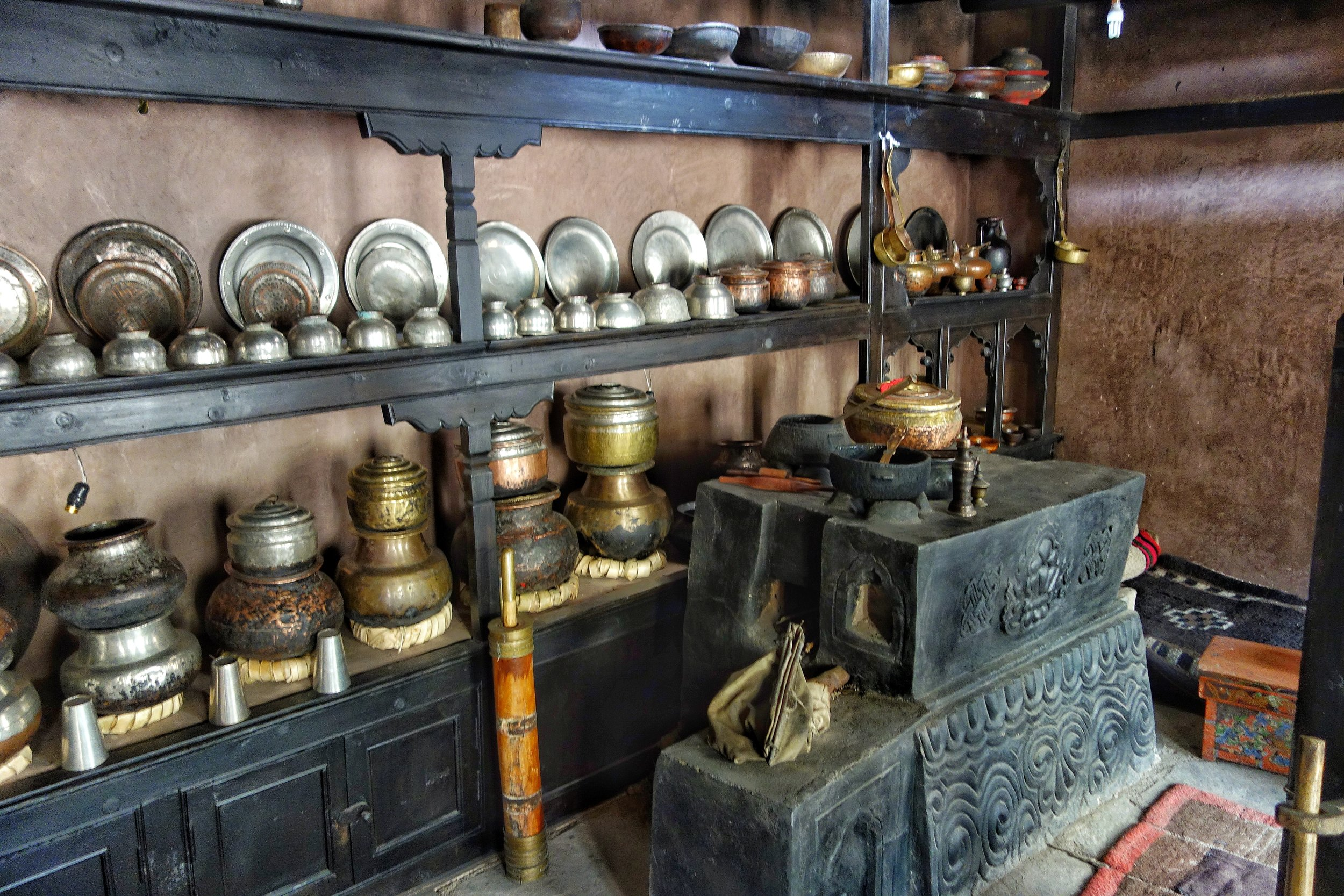 Traditional Ladakhi Stove and Utensils.