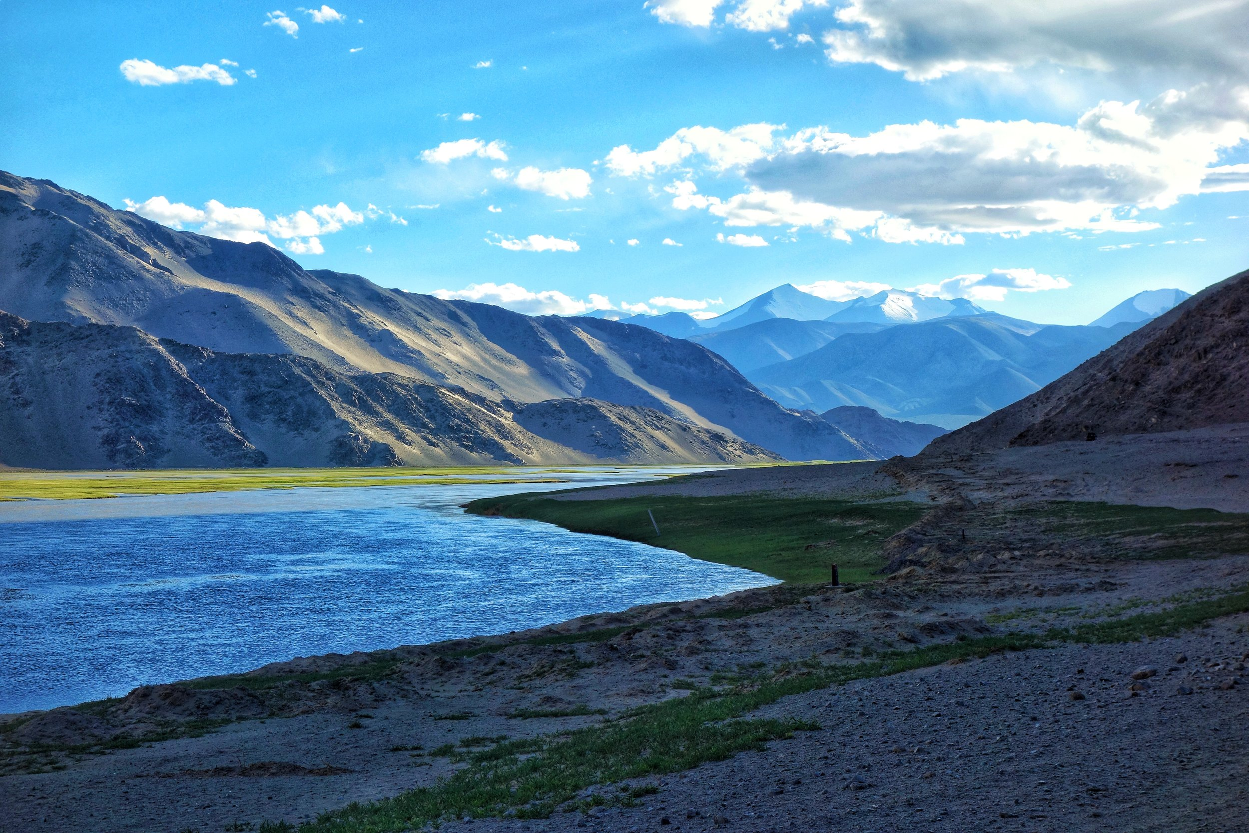The Indus at the Changthang when it enters Ladakh from Tibet.