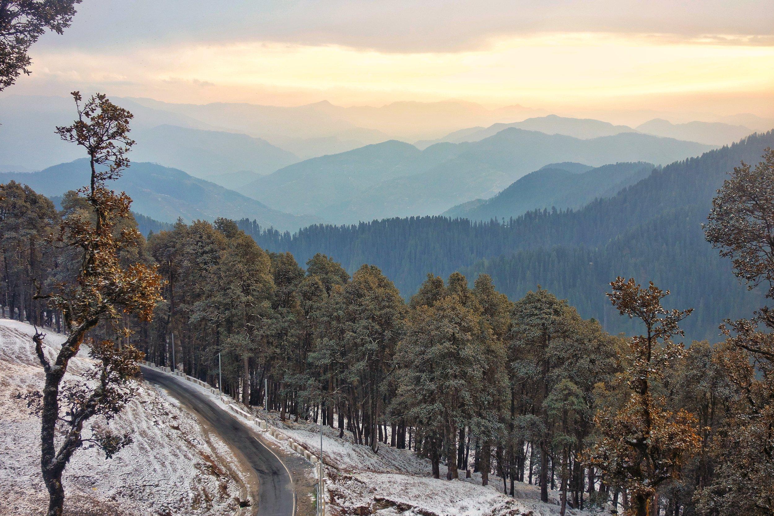 Looking towards Shimla from the Jalori Pass