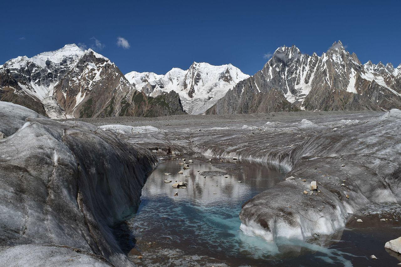 The Biafo Glacier (Pic Courtesy Wikipedia)