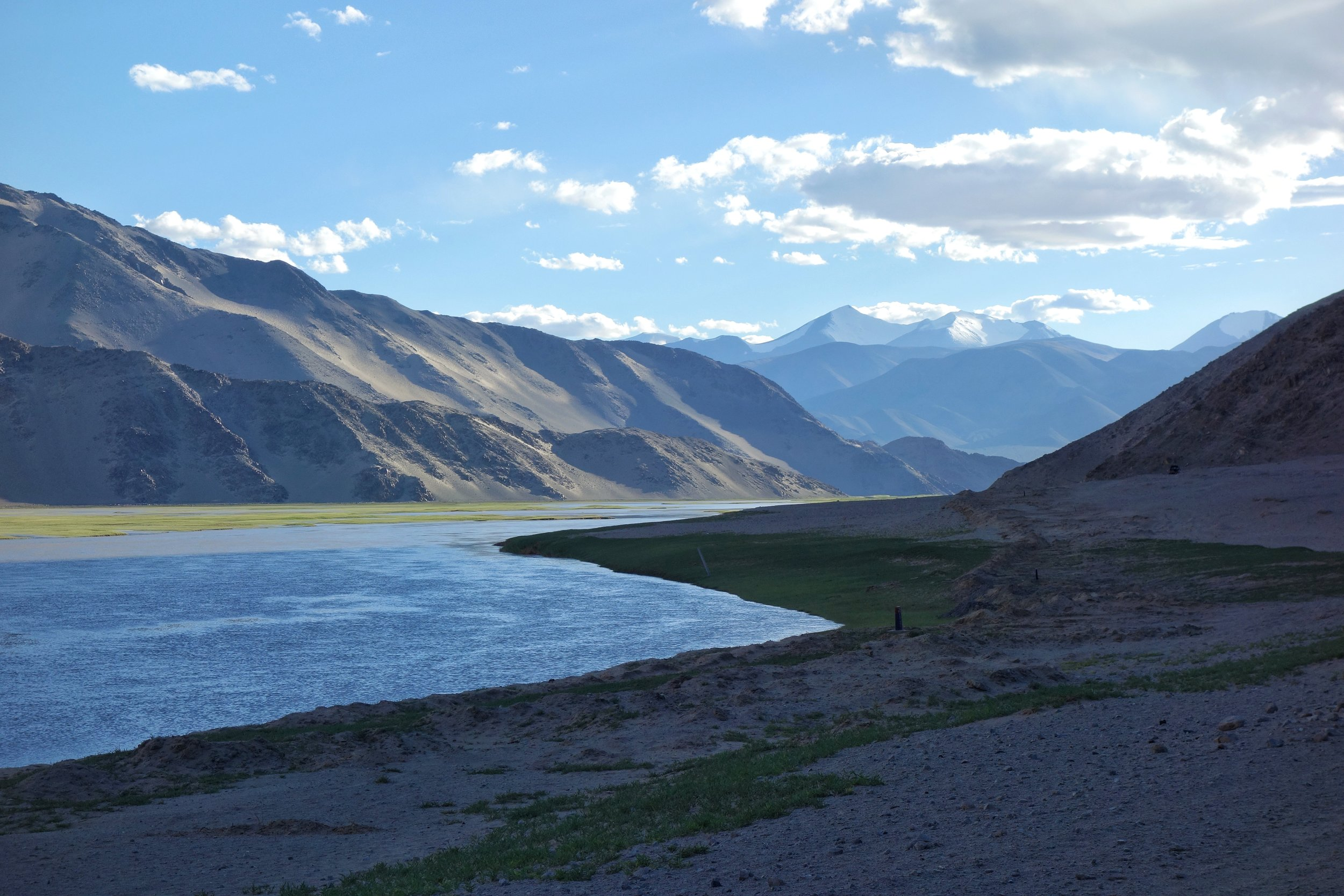 The Indus after it enters Ladakh from Tibet on the Chnagthang