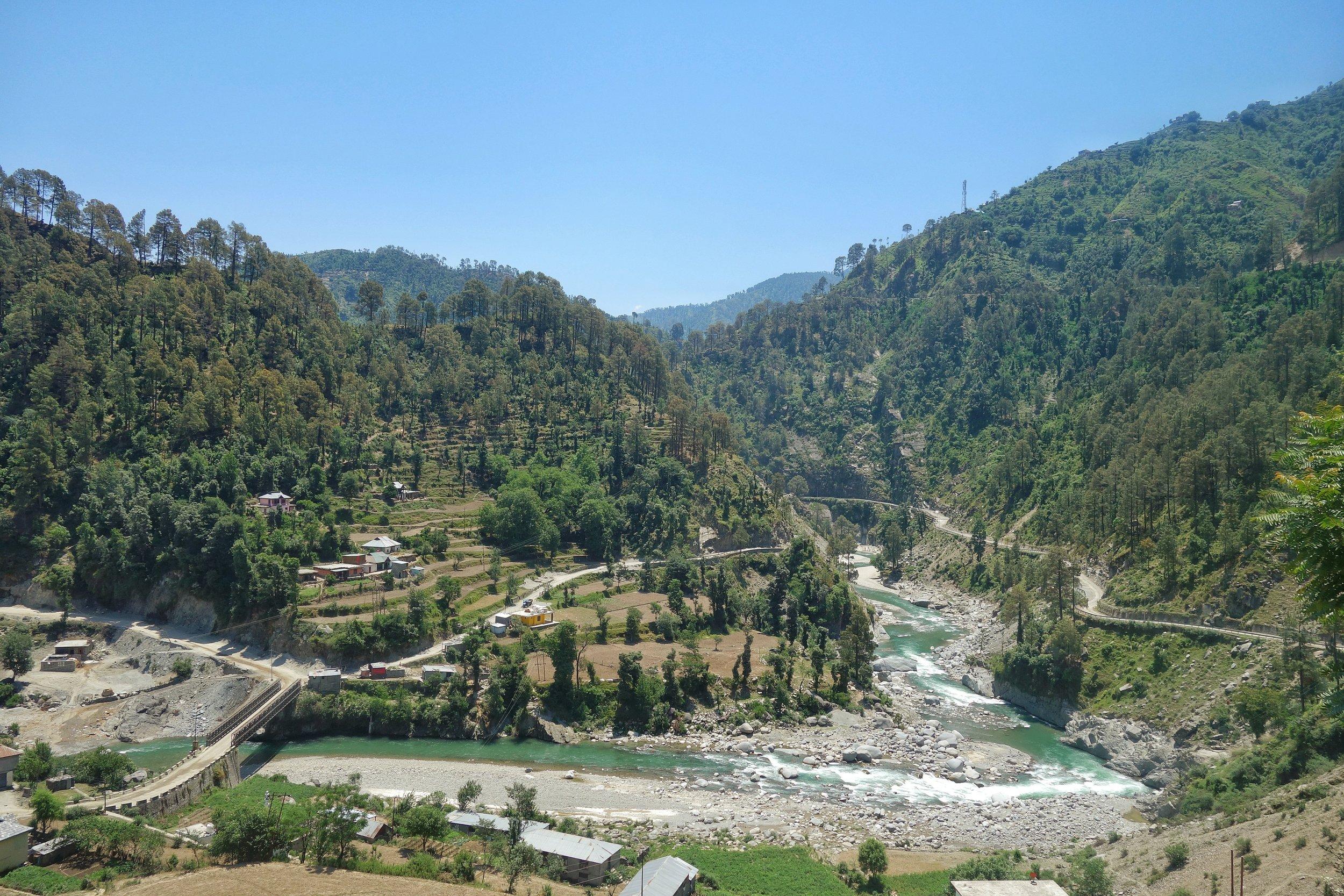 The Sewa River as it flows through Bani