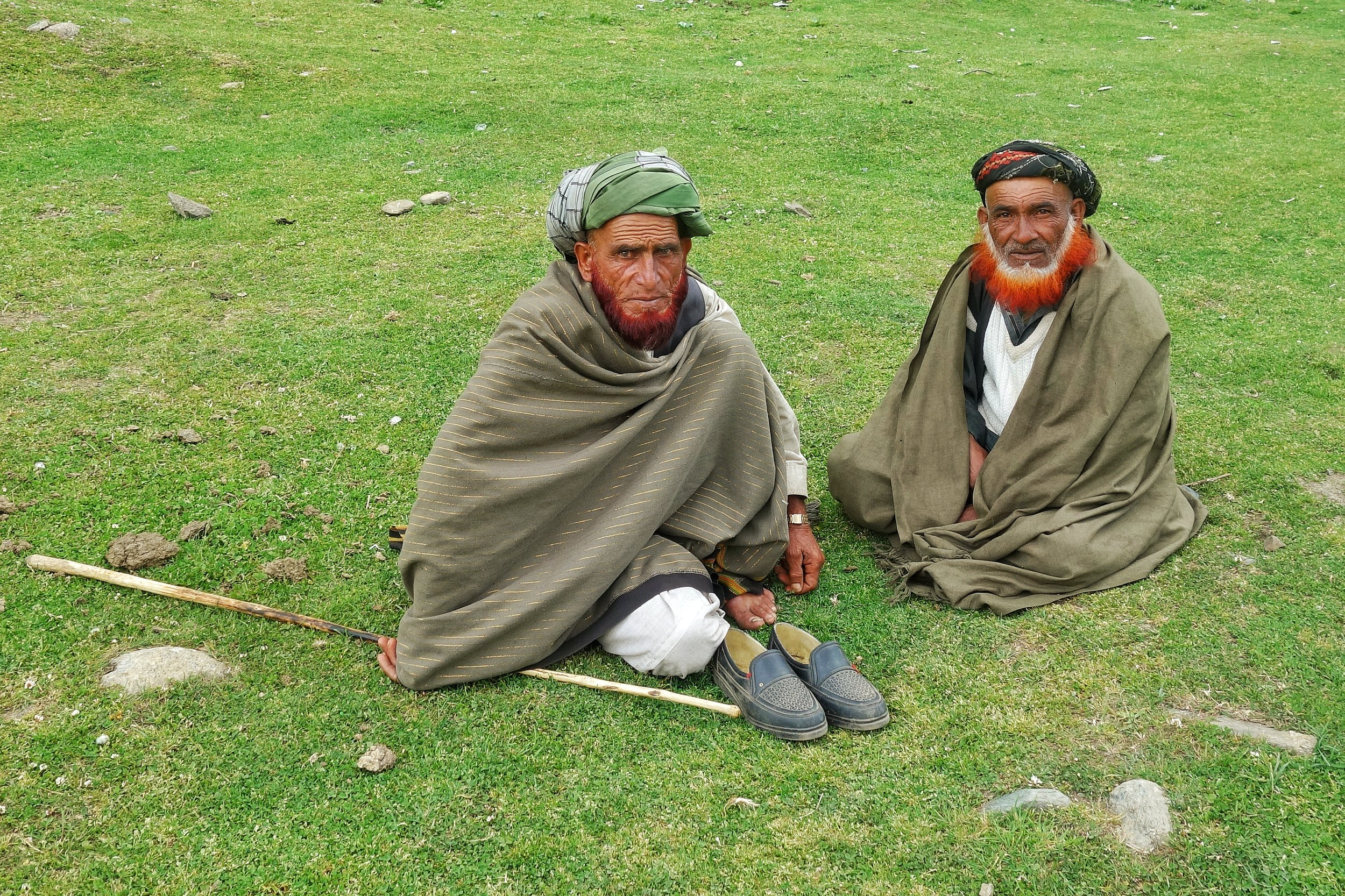 The Bakarwals and the Gujjars are the people we met through out our Trip. We met these two handsome Bakarwal Men in Sarthal.