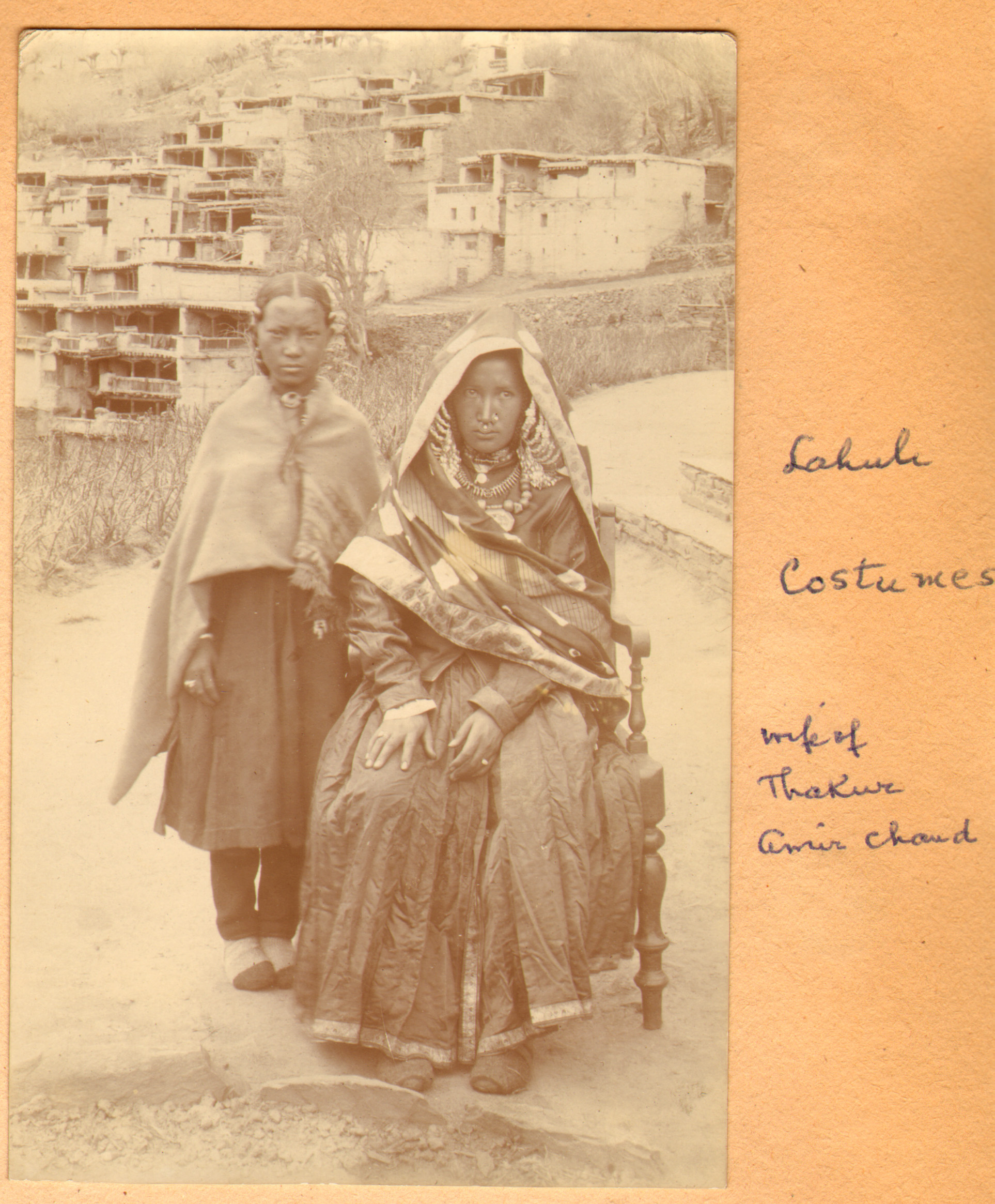 Wife of Thakur Amar Chand of Lahaul as taken by Ralph Stewart 1913