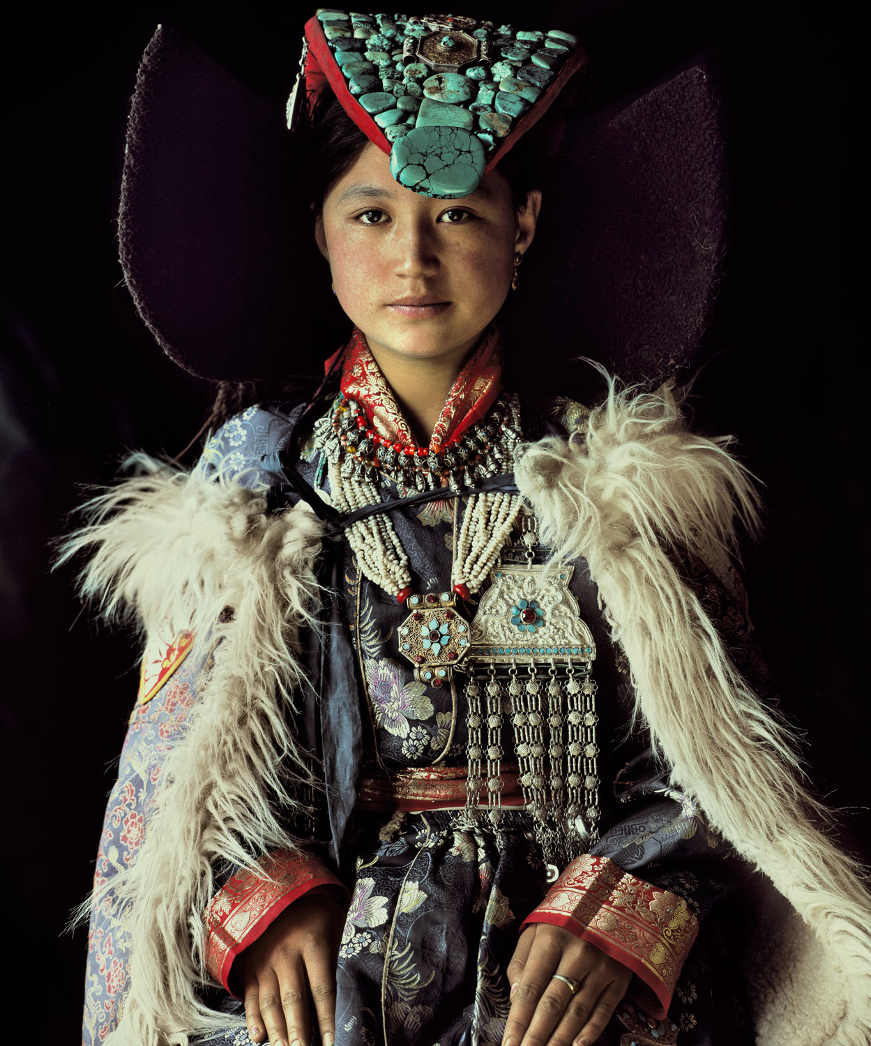 A :Ladakhi Lady in traditional Dress. Pic Courtesy Jimmy Nelson
