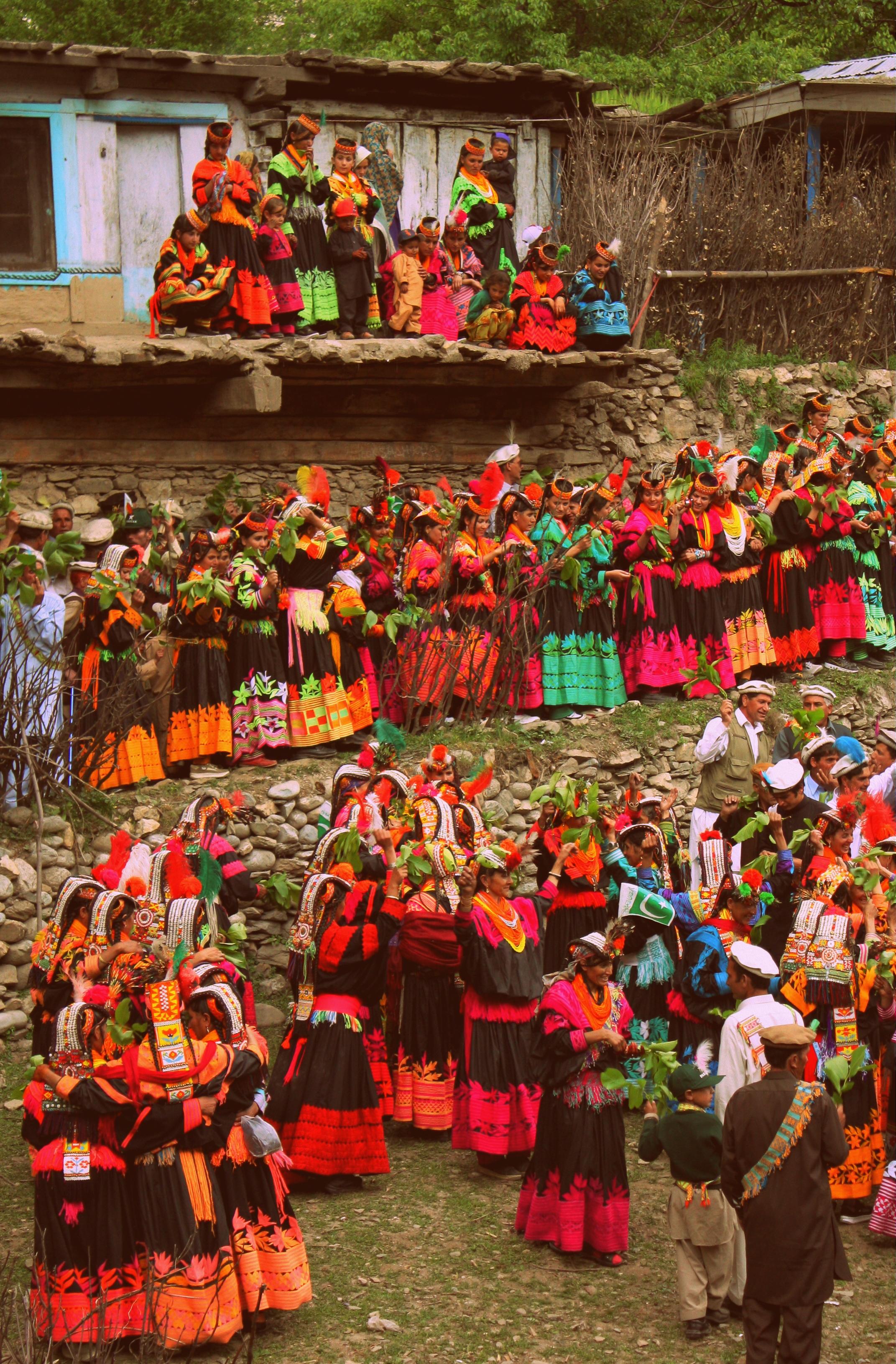 Kalash People during the Chillam Joshi Festiva. Pic Courtesy Wikipedia