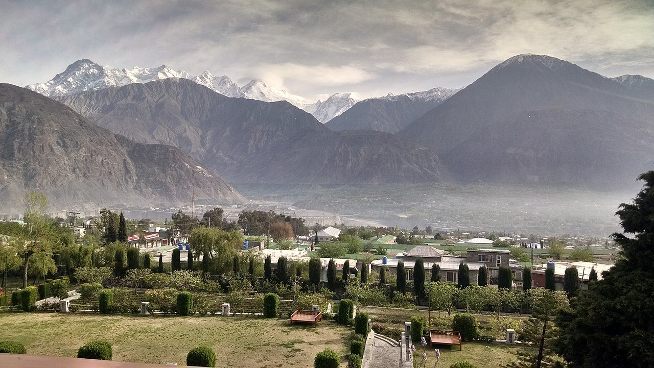 A view of the Gilgit Town and Valley. Image Courtesy Wikipedia