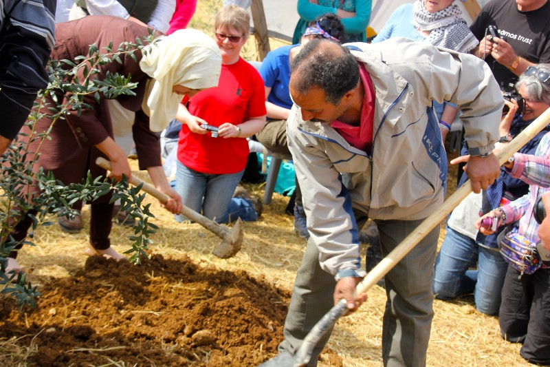 Yeaqub and his family planting the olive tree