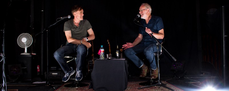 Martyn and Bob Harris, OBE on stage at Zac's Place (Photo credit: Alastair Gray)