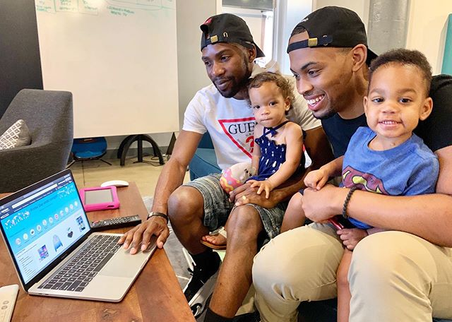 We couldn't wait to get on the computer and look for @amazon #PrimeDay deals! If you didn't know, today is the LAST DAY to get these savings that only come around once a year! So get your #PrimeLife and check it out! ⁣ ⁣ Ashton was clearly excited as well because when we shop its always for them🙄 #ad