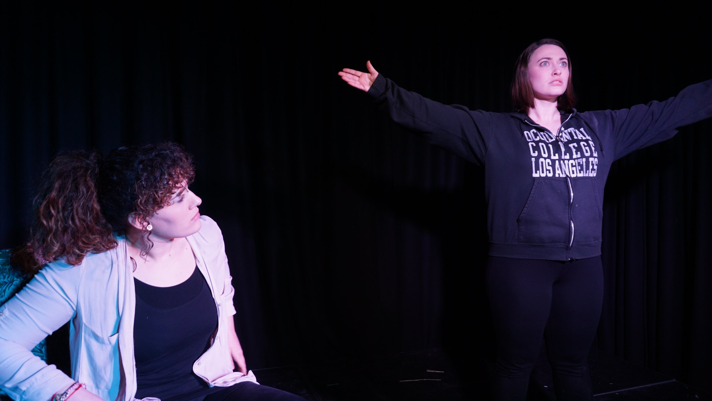 Evi Polyviou (left) and Bee Scott (right) in LAST TRAGEDY