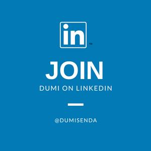 Join Dumi on LinkedIn