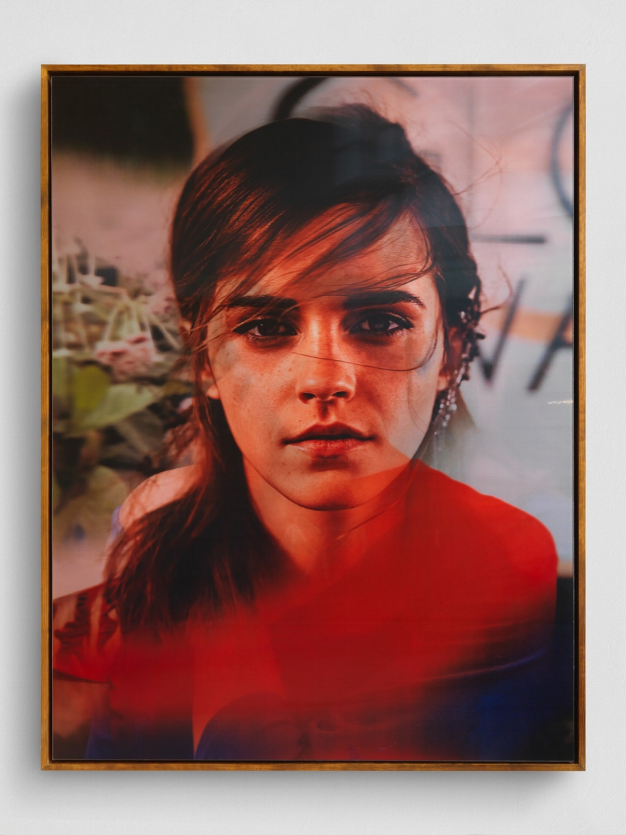 Emma , 2018, Lenticular print, framed, 208.5 x 156.8 cm, unique Courtesy the artist Yves Scherer