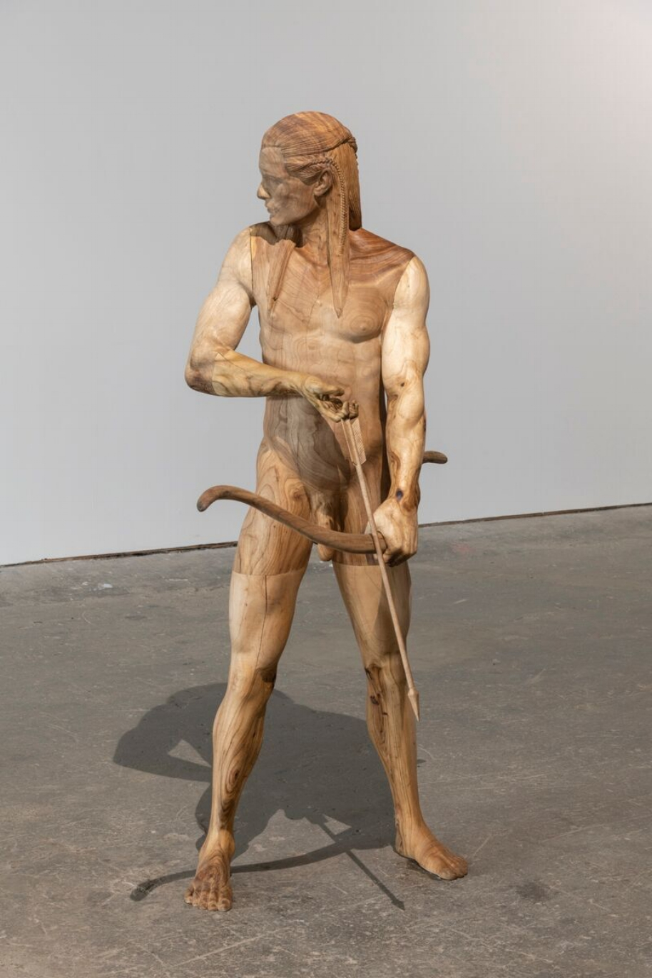 Legolas , 2018, Wood, 185 x 86 x 78 cm Courtesy the artist Yves Scherer and Cassina Projects