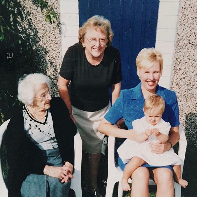 The four generations, including Yvonne Wilkin who inspired Personal Memento.