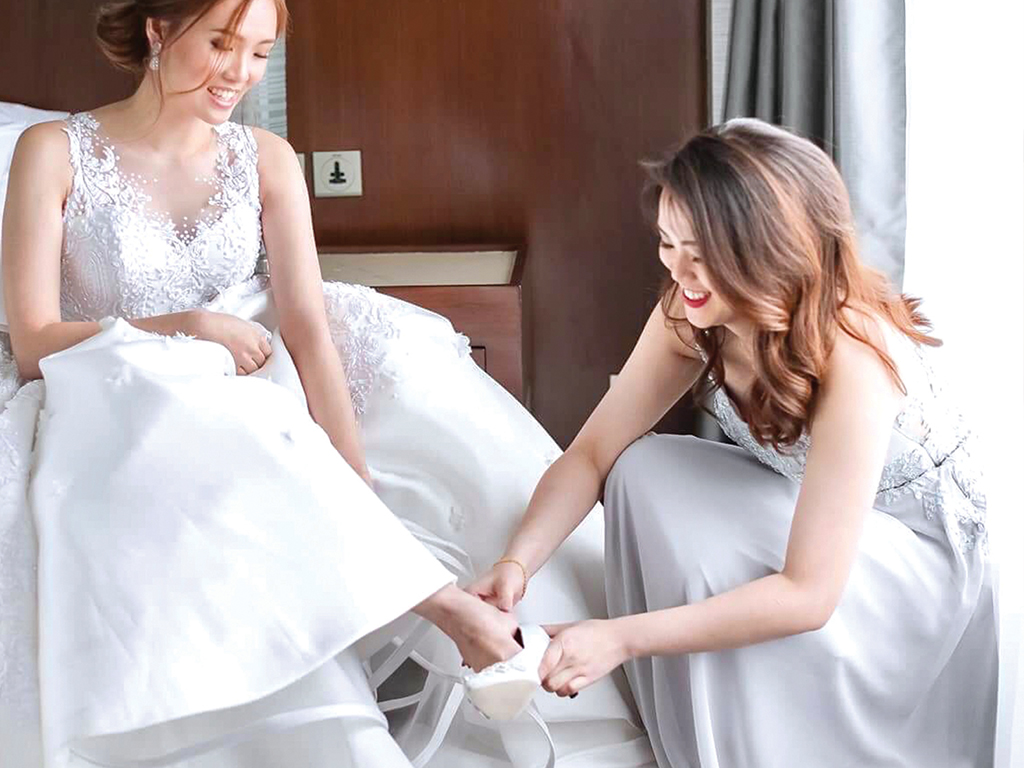 """Hi Jeff! Super love my wedding shoes! It fits perfectly with my gown. You helped me create a pair exactly the way I wanted. And for all the wedding tips and chikkas, thank you so much! Definitely an elegant pair without sacrificing comfort! More power to you Jeff!"""