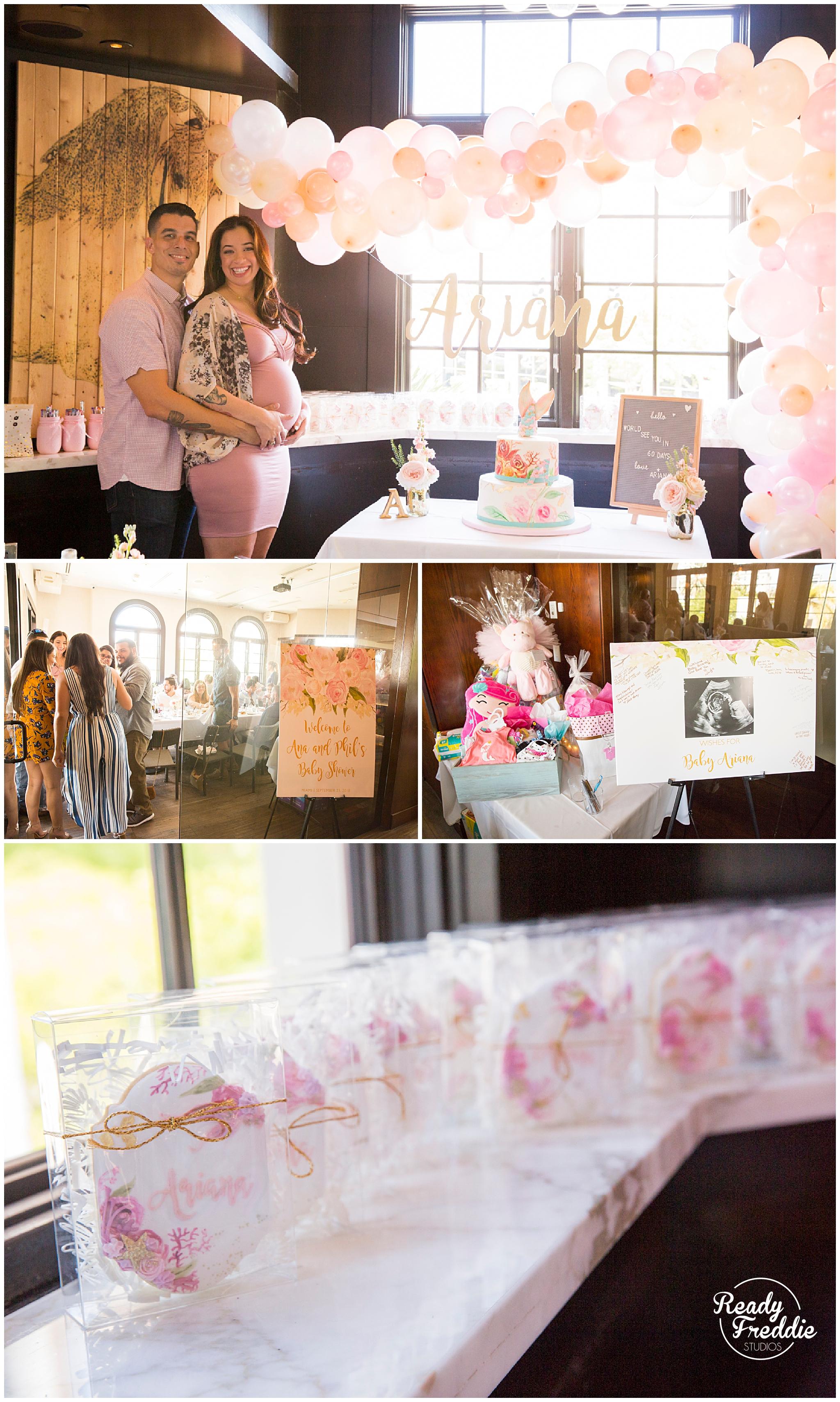 details of baby shower in miami, FL