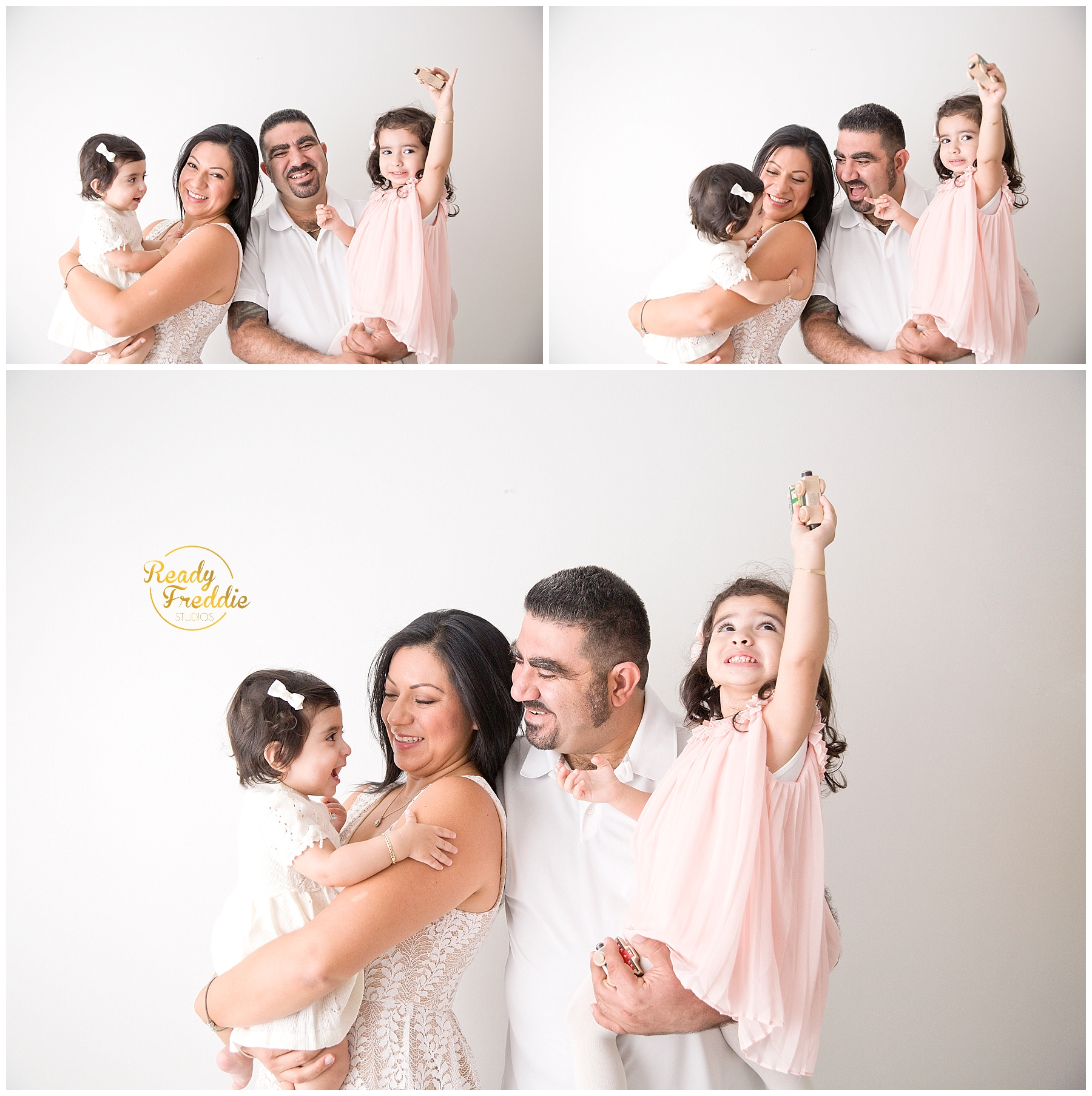 Fun family session for a family of 4 in Miami FL