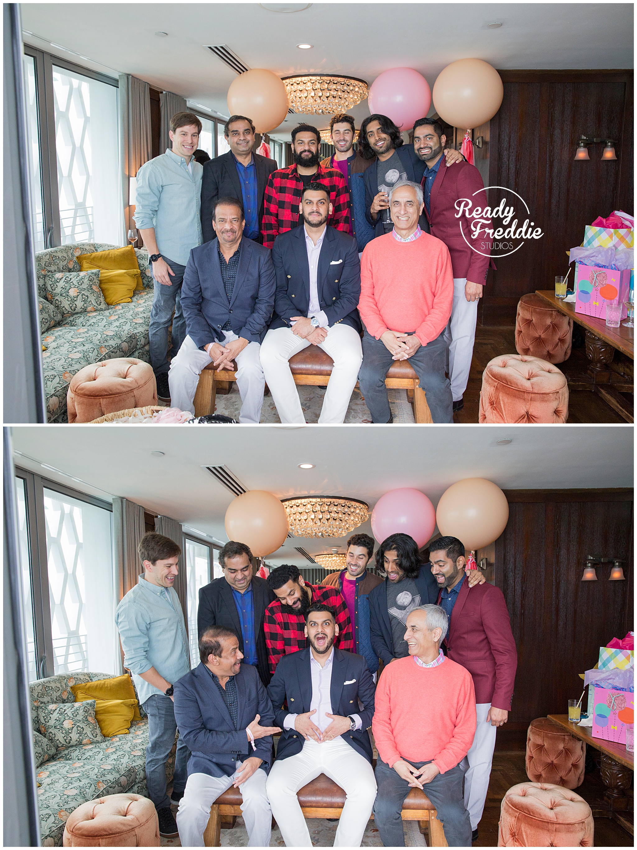 dad to be with his guys during his baby shower at the soho beach house penthouse in miami florida