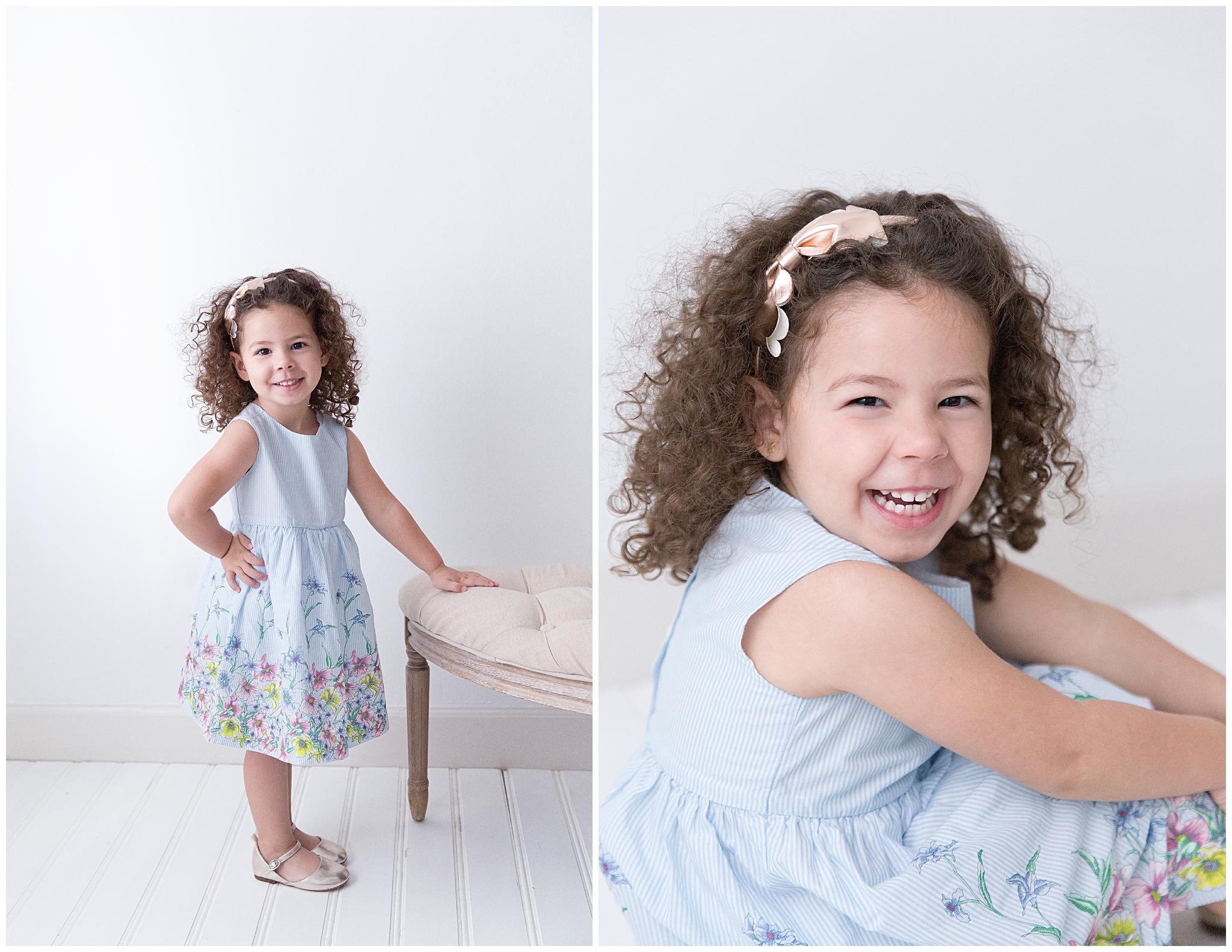 Girl posing in Miami photo studio