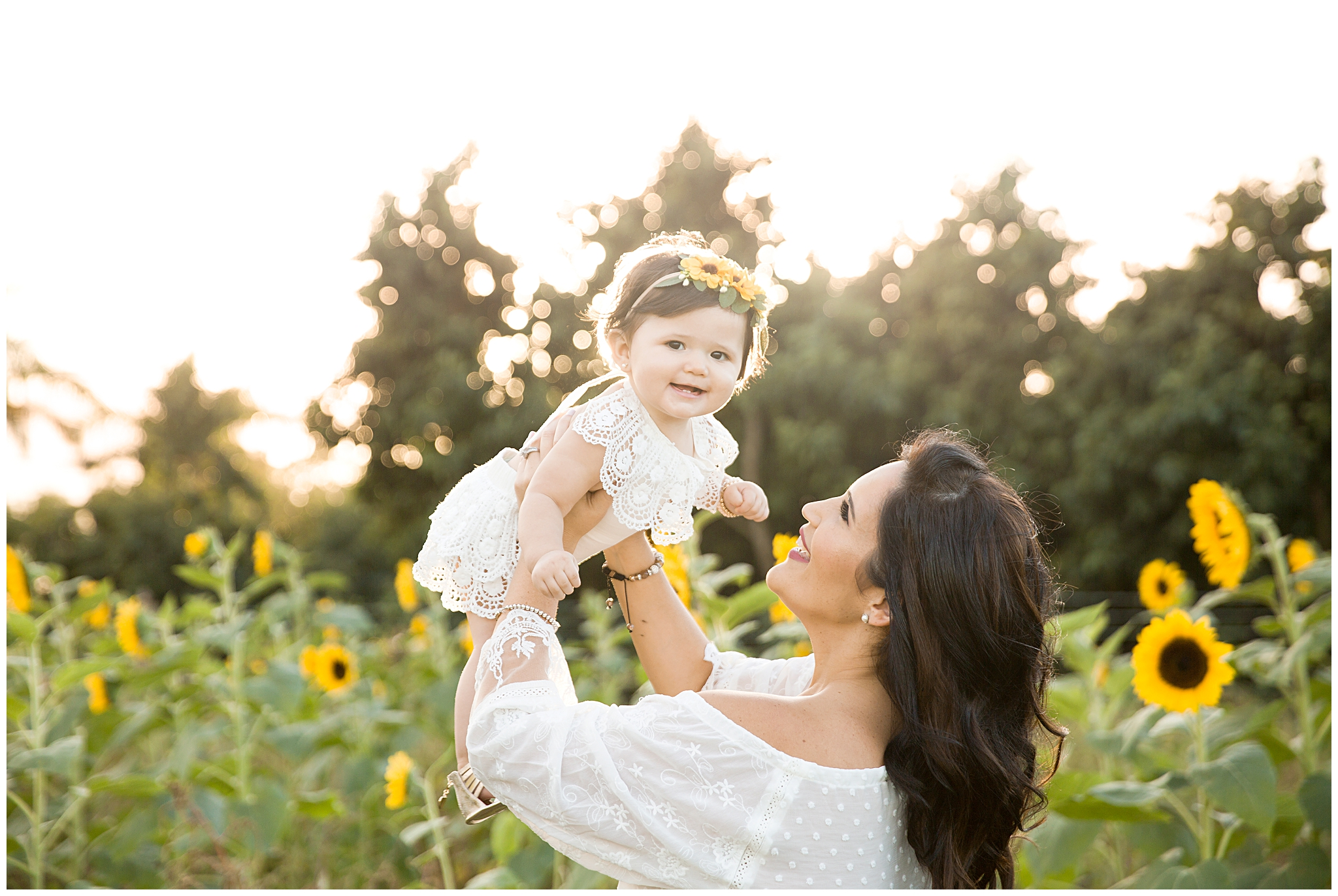 Miami Family Photography | Sunflower field in Homestead FL