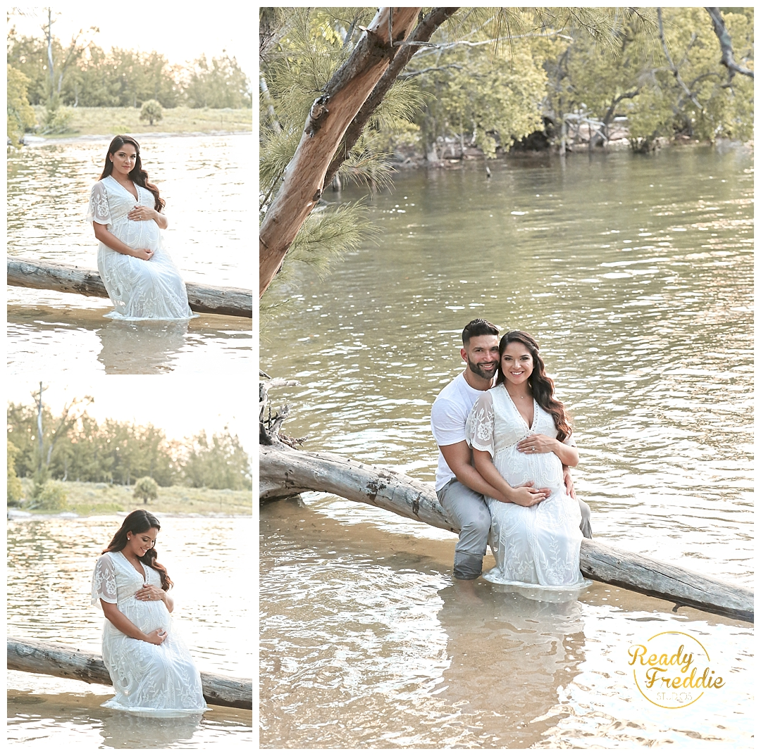 Beautiful maternity session in Key Biscayne FL