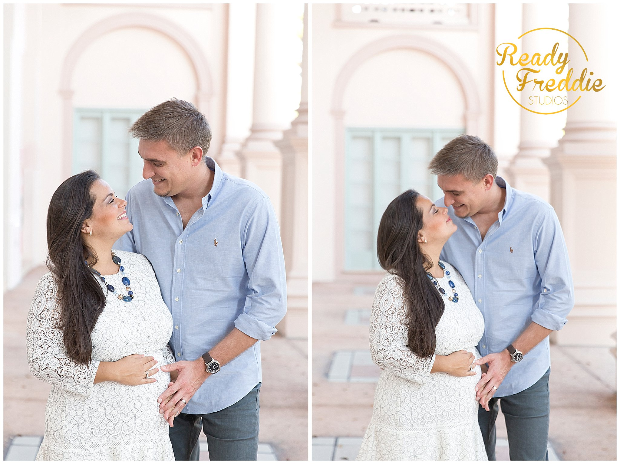 Maternity Session in Miami FL in the Colonnade Hotel in Coral Gables