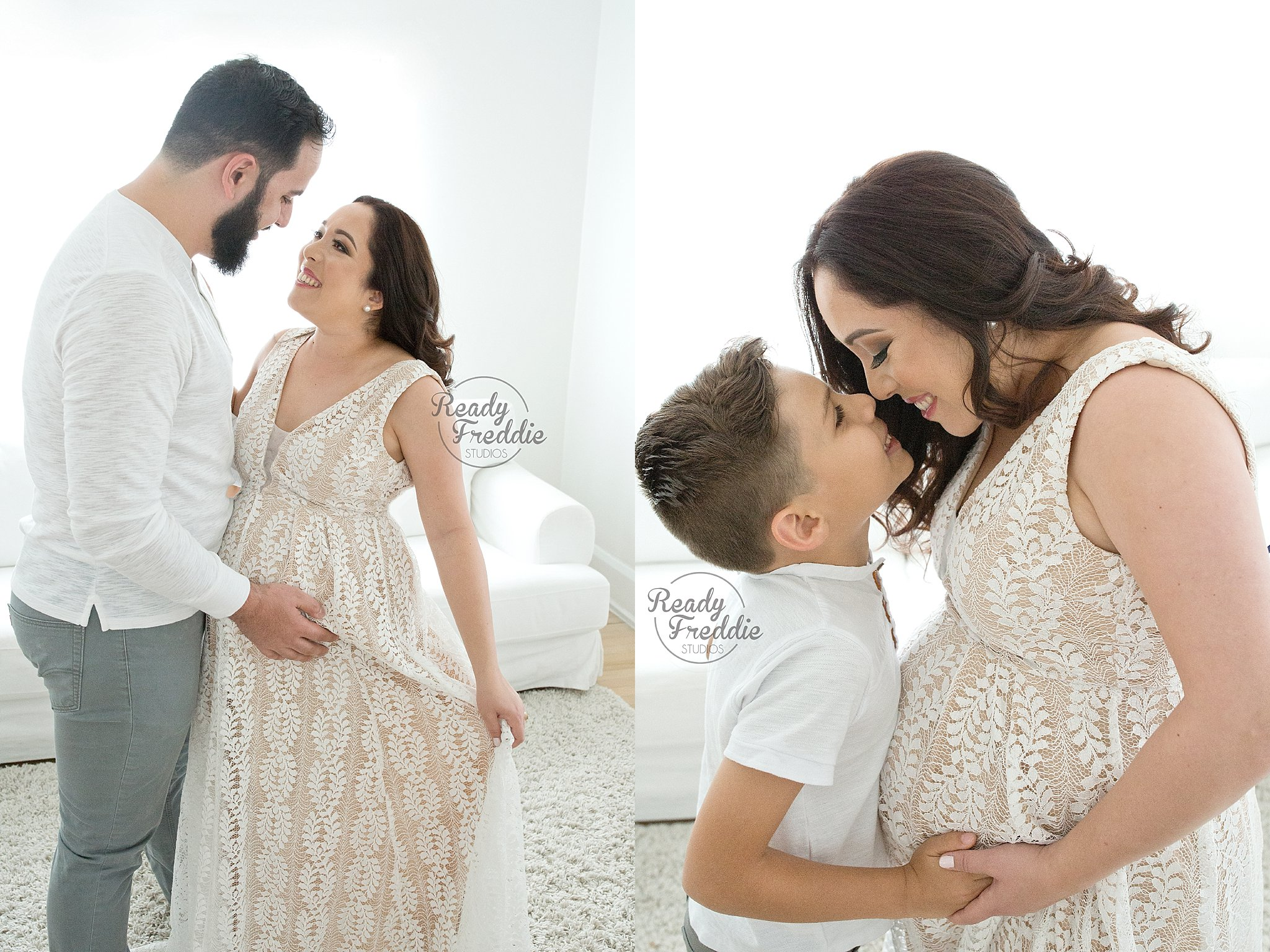 Happy candid maternity poses - Best Maternity Photographer in Miami, FL.