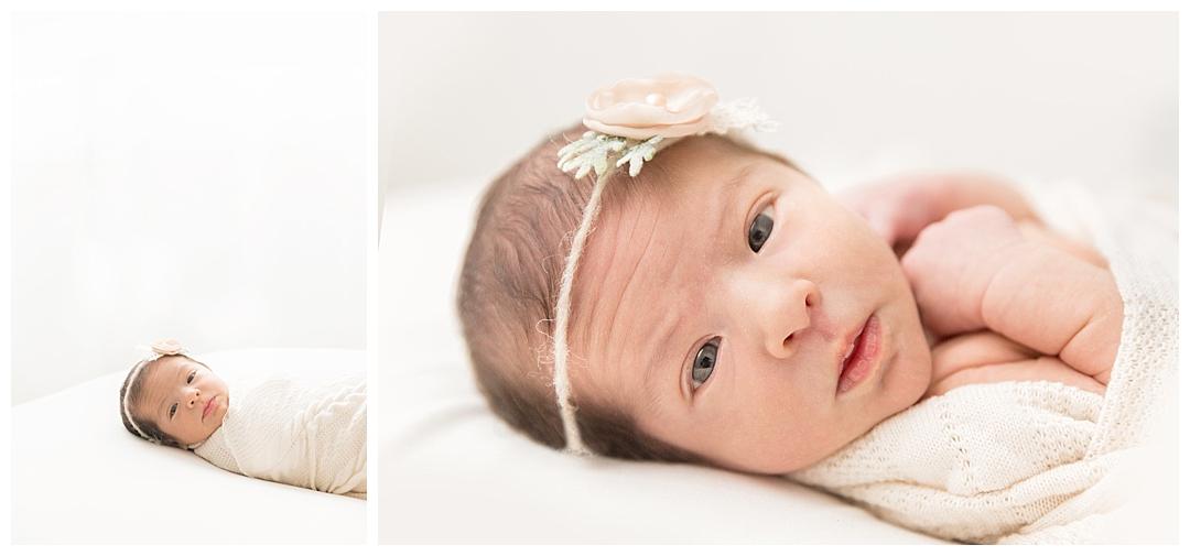 newborn wide awake baby poses | miami baby photographer