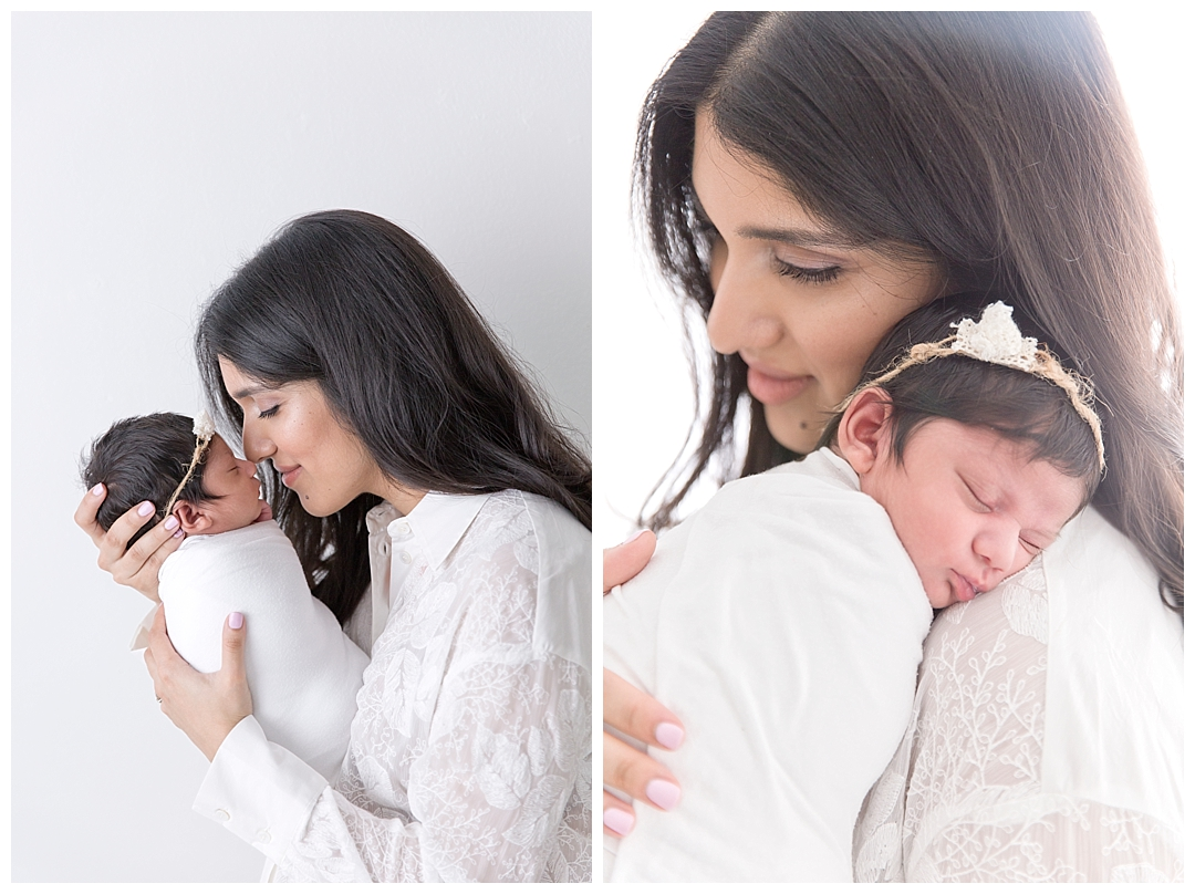 mommy and newborn baby | photography studio in miami, fl