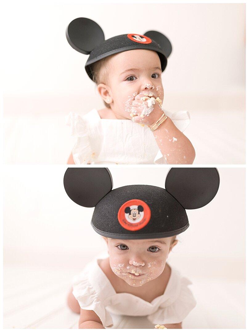 Disney themed first birthday photo session in Miami, FL by Ready Freddie Studios