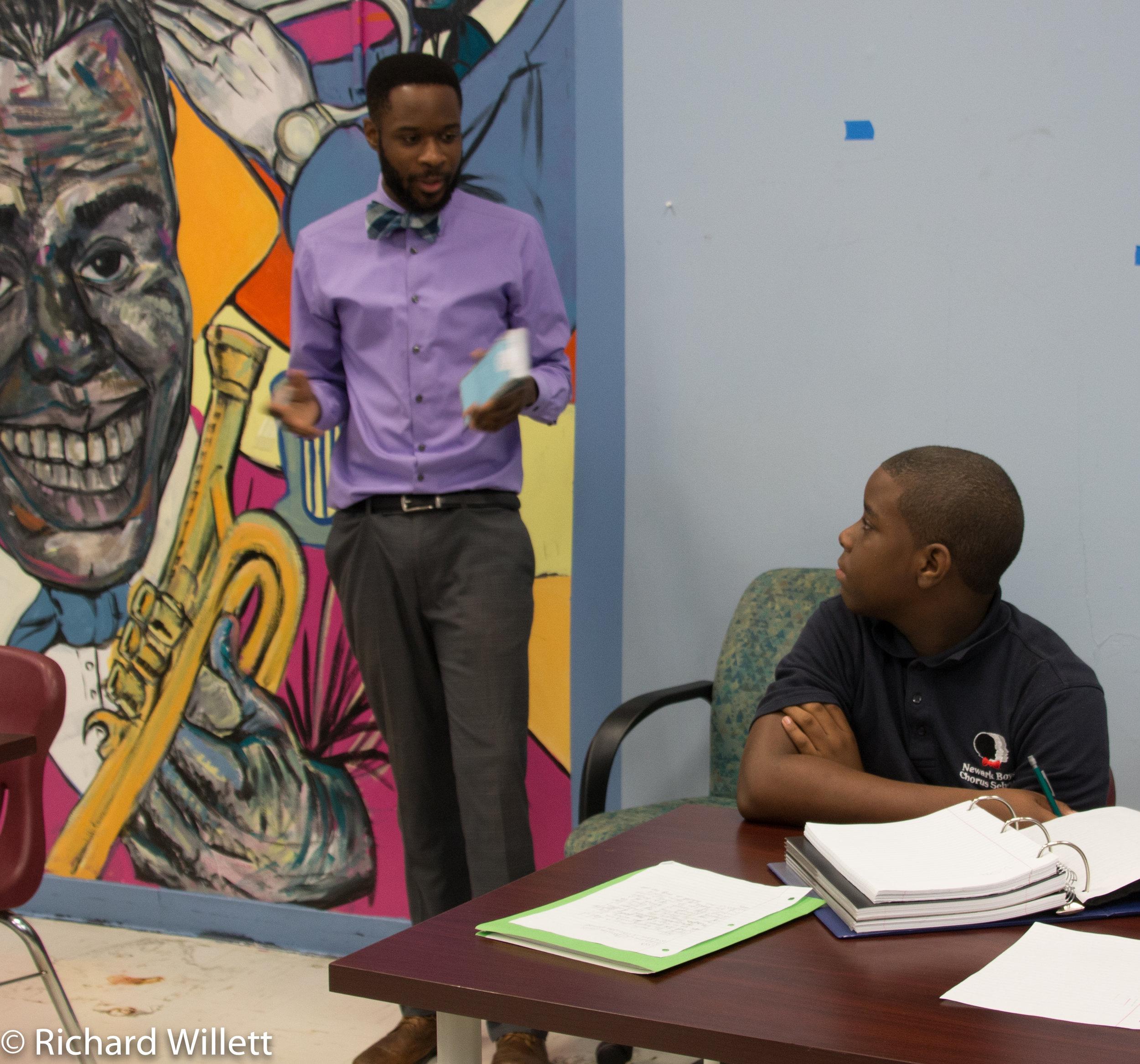 - Mr. Binger explains social demonstrations to students