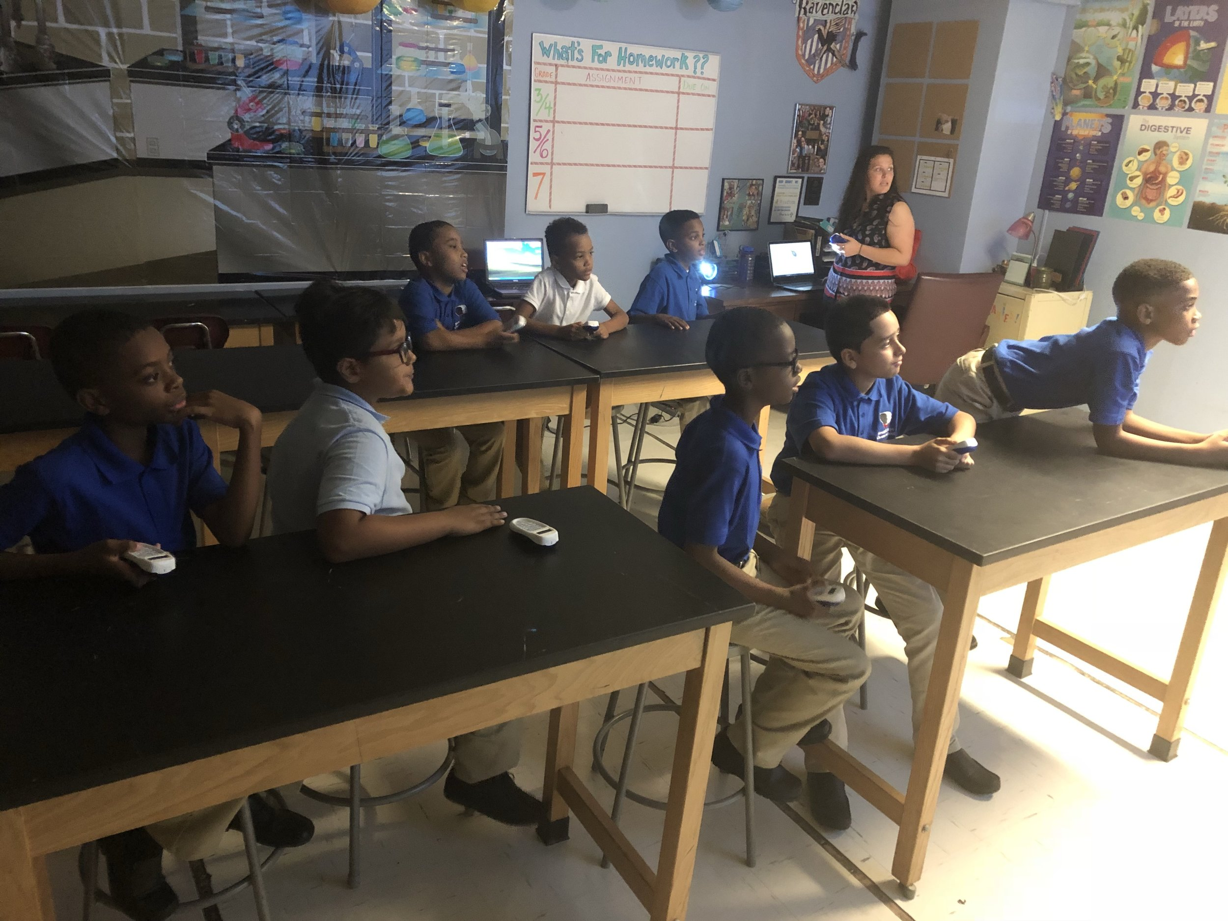 - Ms. Natal's science students use remote